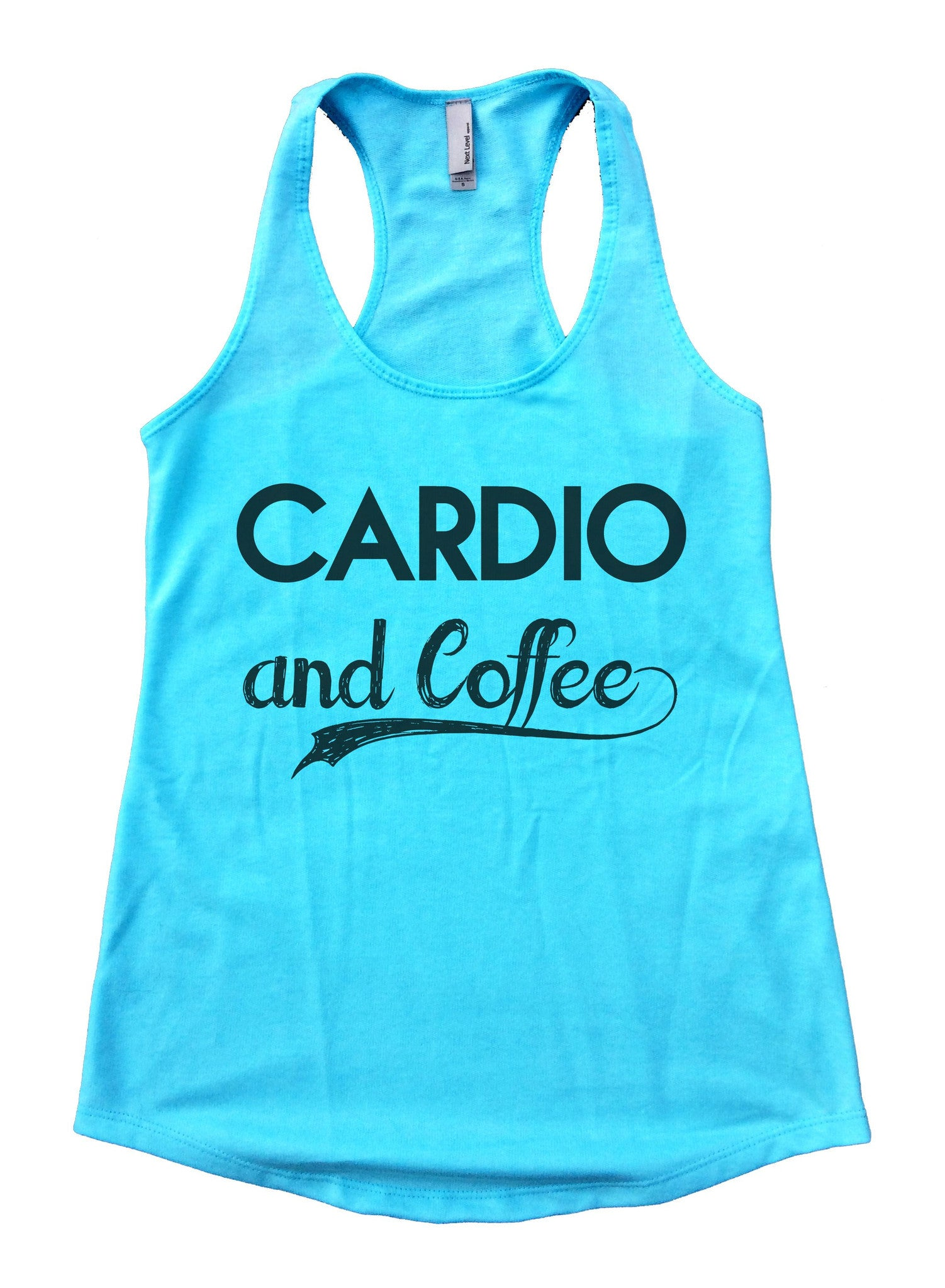 Cardio And Coffee Womens Workout Tank Top F797 - Funny Shirts Tank Tops Burnouts and Triblends  - 1
