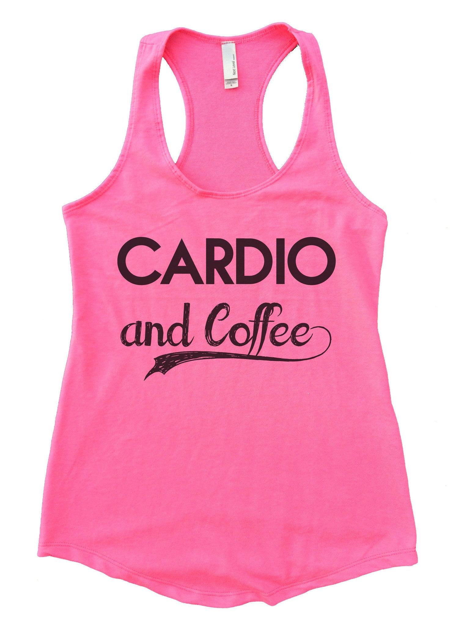 Cardio And Coffee Womens Workout Tank Top F797 - Funny Shirts Tank Tops Burnouts and Triblends  - 3