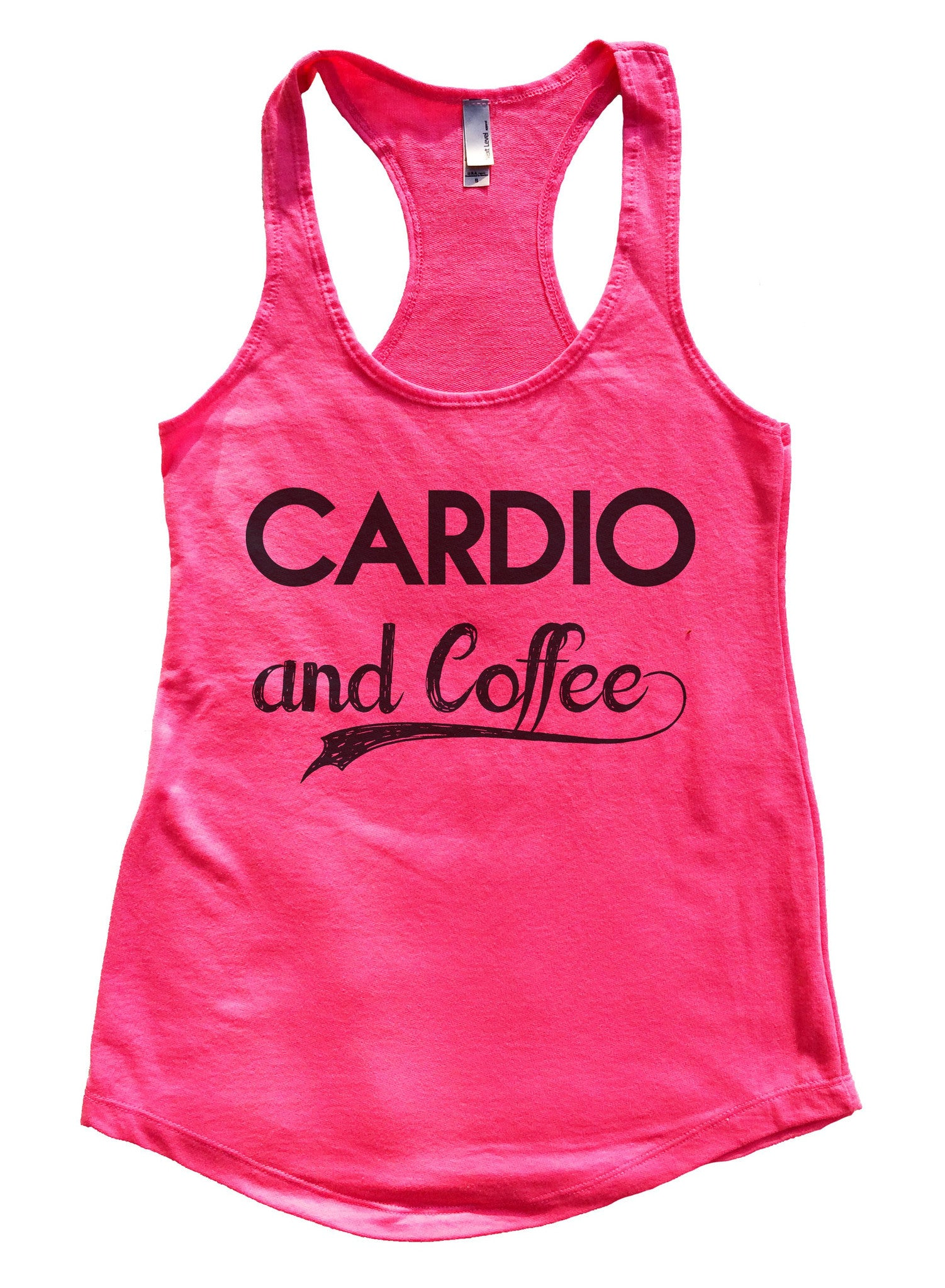 Cardio And Coffee Womens Workout Tank Top F797 - Funny Shirts Tank Tops Burnouts and Triblends  - 5
