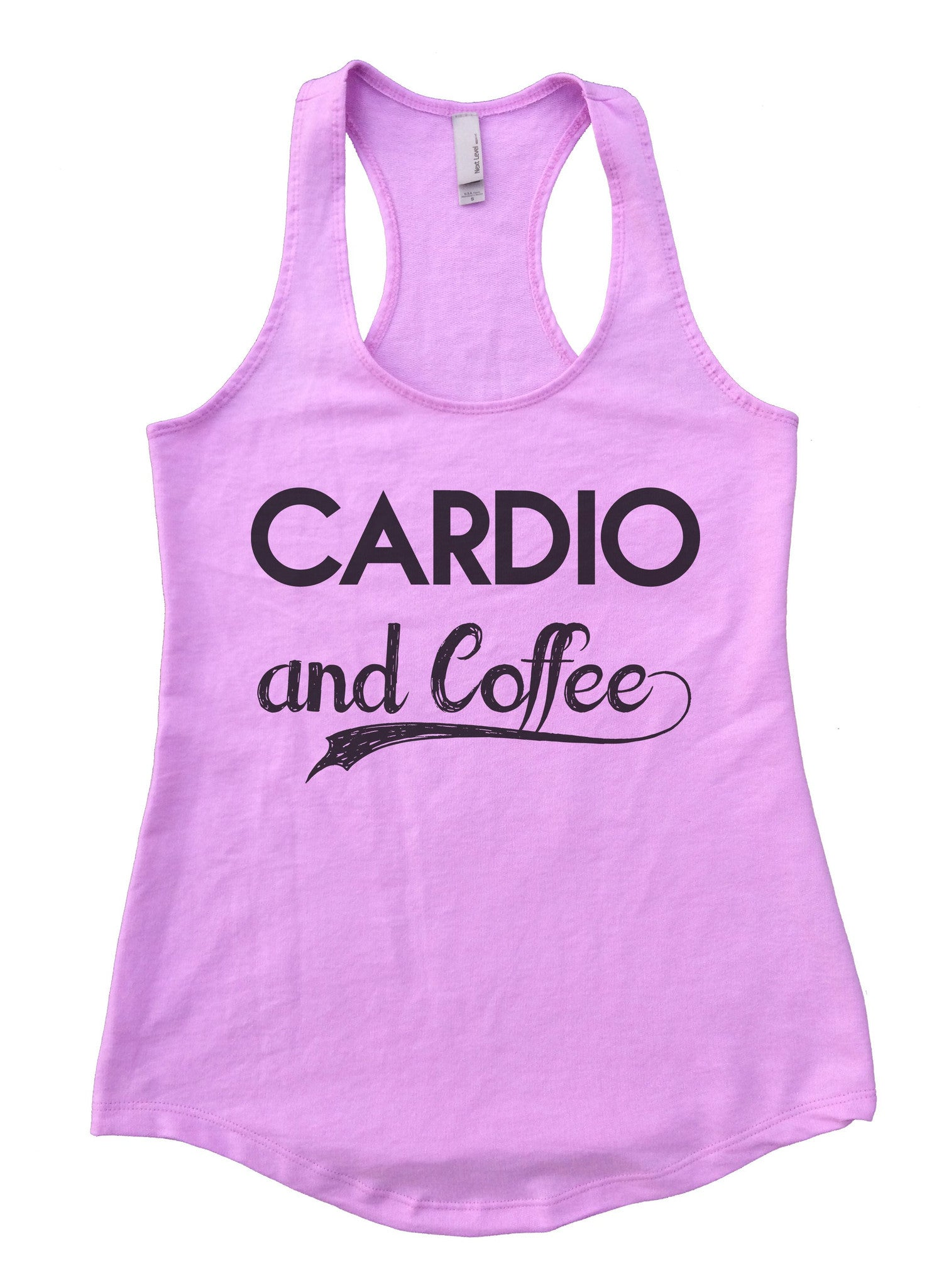 Cardio And Coffee Womens Workout Tank Top F797 - Funny Shirts Tank Tops Burnouts and Triblends  - 4