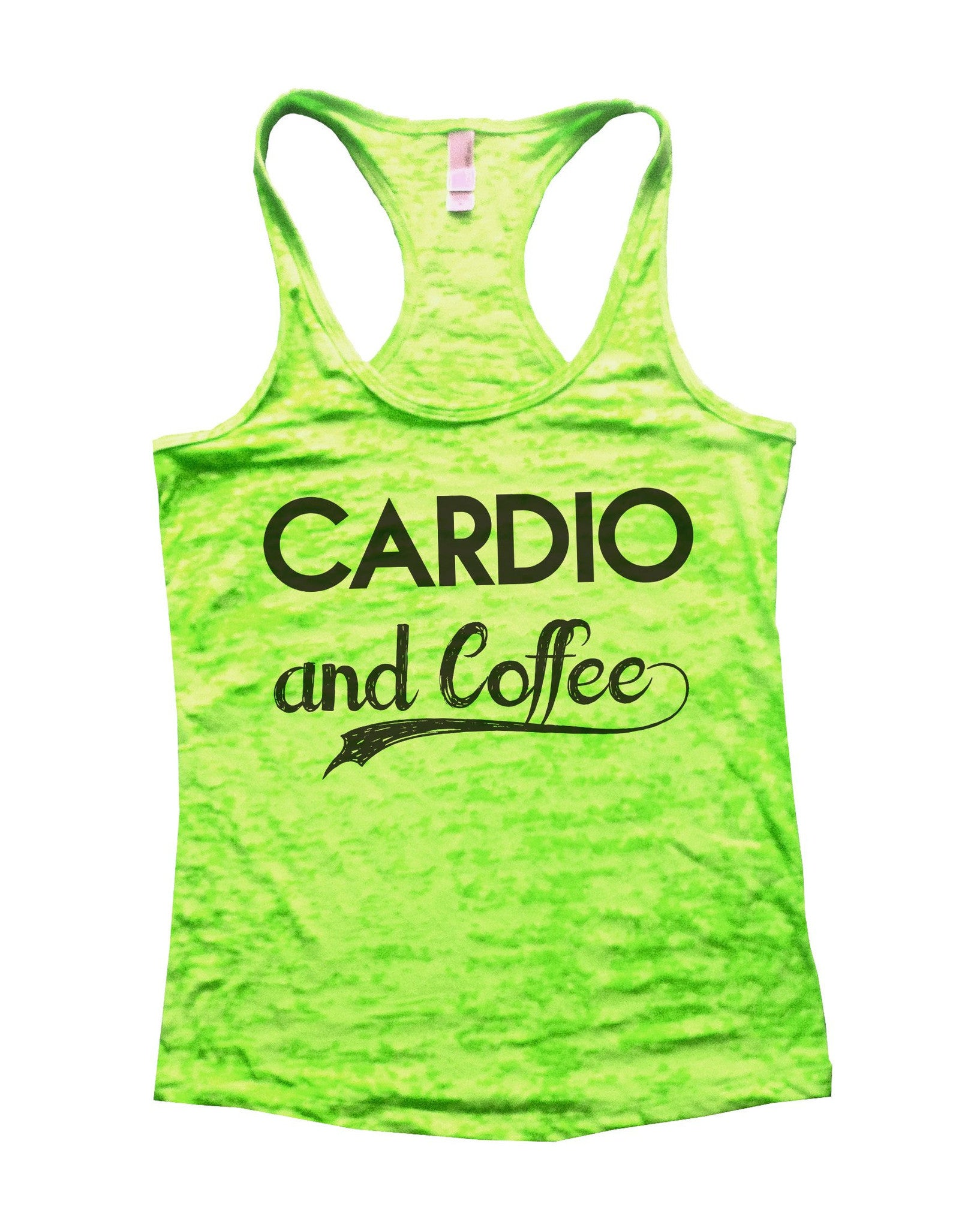 Cardio And Coffee Burnout Tank Top By BurnoutTankTops.com - 797 - Funny Shirts Tank Tops Burnouts and Triblends  - 2