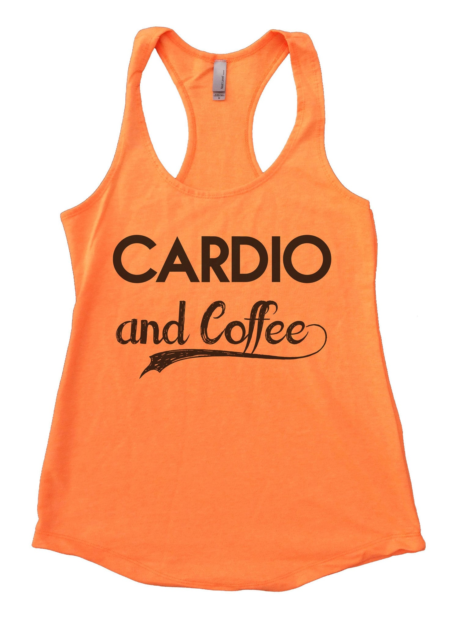 Cardio And Coffee Womens Workout Tank Top F797 - Funny Shirts Tank Tops Burnouts and Triblends  - 6