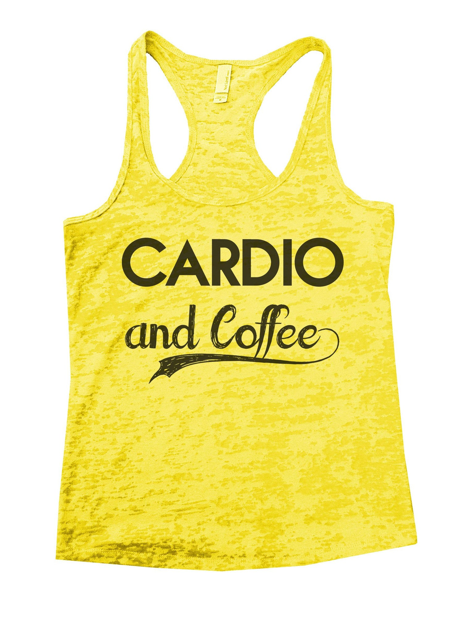 Cardio And Coffee Burnout Tank Top By BurnoutTankTops.com - 797 - Funny Shirts Tank Tops Burnouts and Triblends  - 7