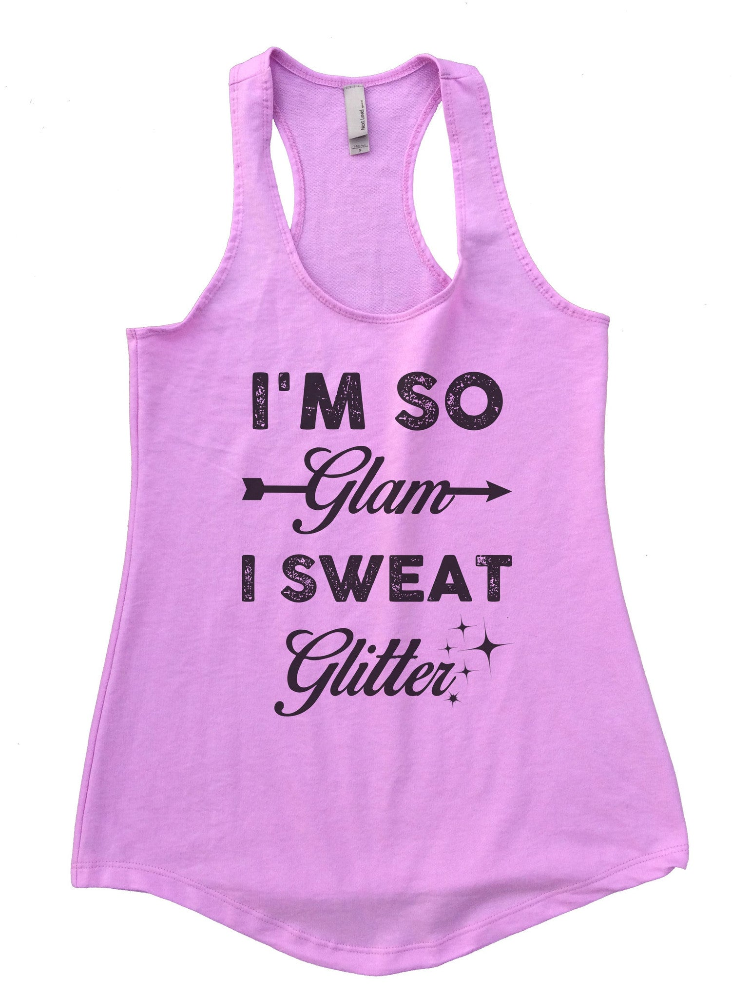 I'm So Glam I Sweat Glitter Womens Workout Tank Top F822 - Funny Shirts Tank Tops Burnouts and Triblends  - 4