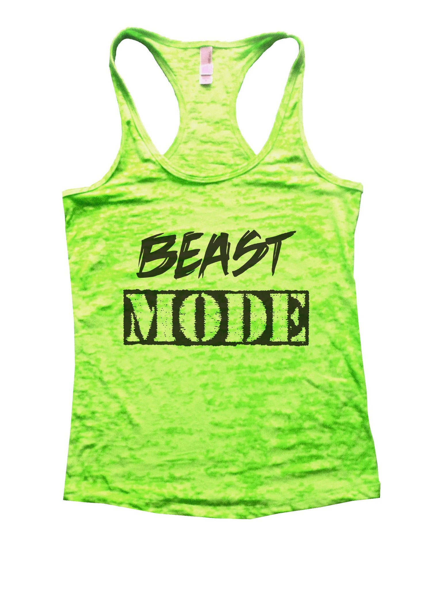 Beast Mode Burnout Tank Top By BurnoutTankTops.com - 823 - Funny Shirts Tank Tops Burnouts and Triblends  - 2