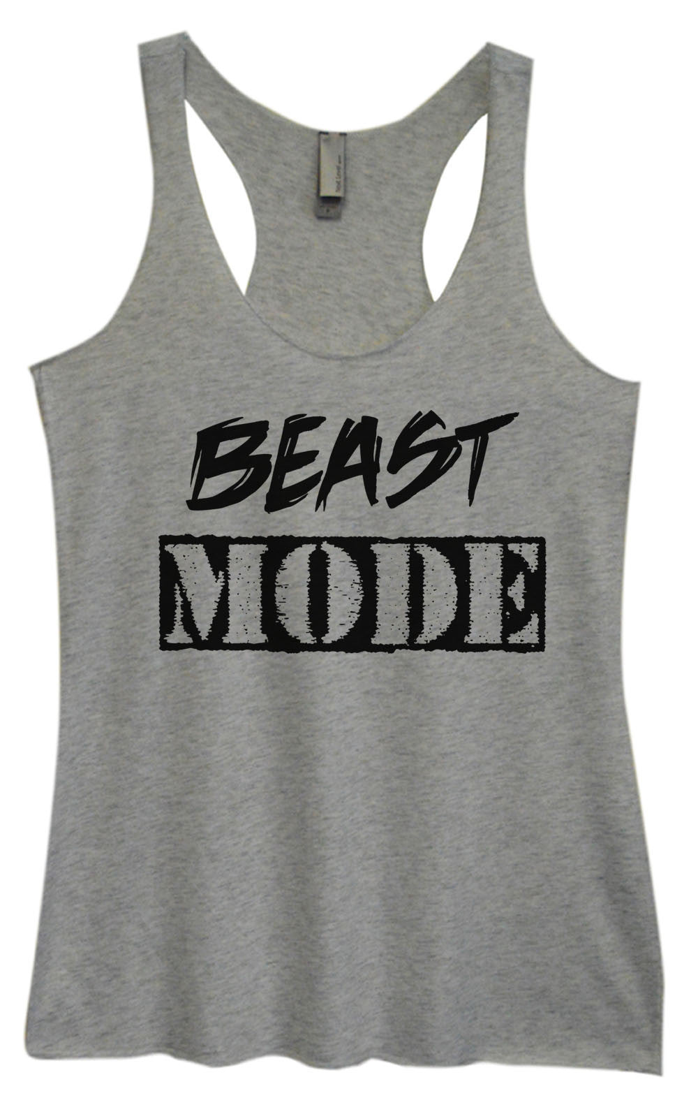 Womens Fashion Triblend Tank Top - Beast Mode - Tri-823 - Funny Shirts Tank Tops Burnouts and Triblends  - 2