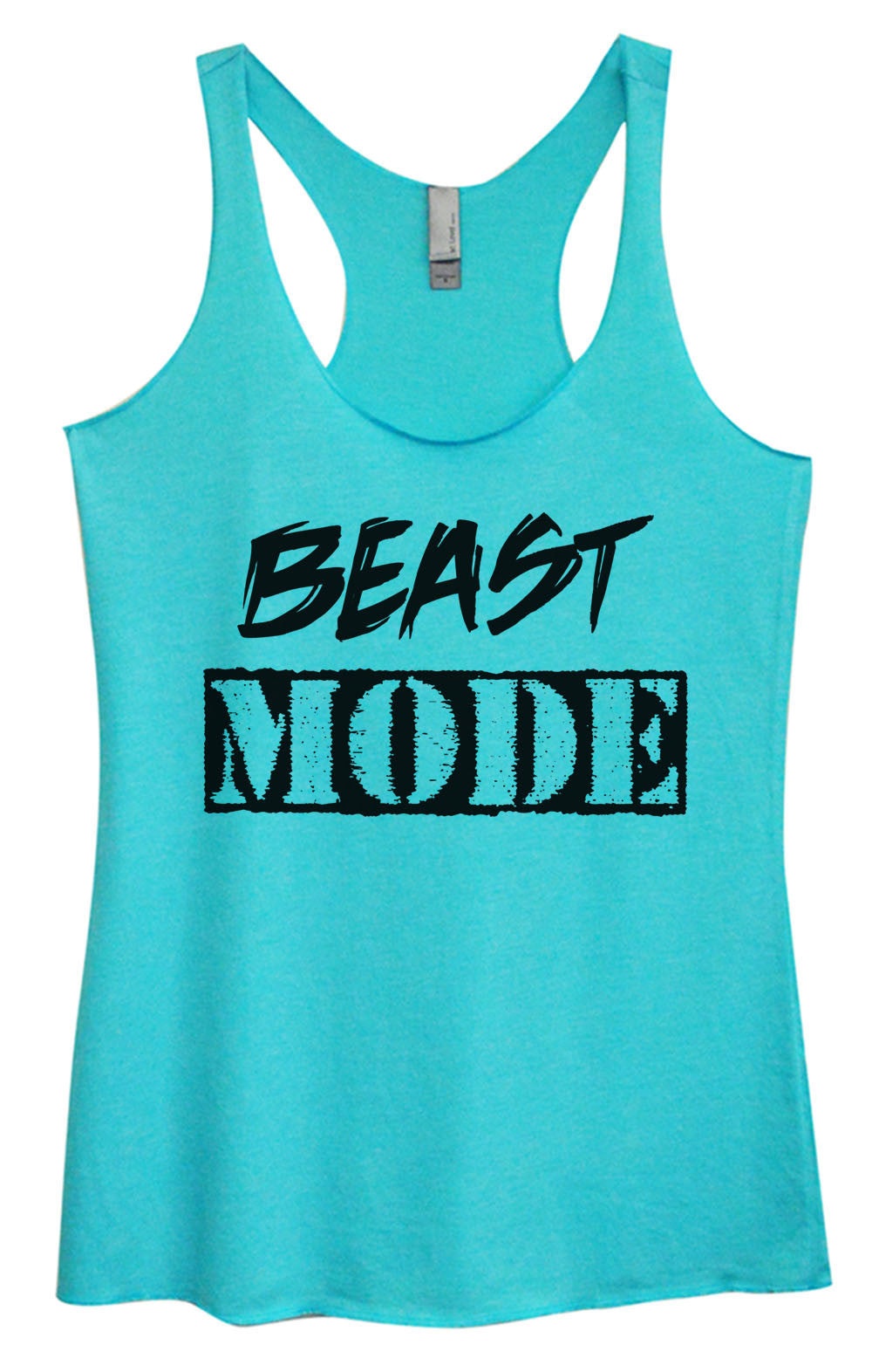 Womens Fashion Triblend Tank Top - Beast Mode - Tri-823 - Funny Shirts Tank Tops Burnouts and Triblends  - 4