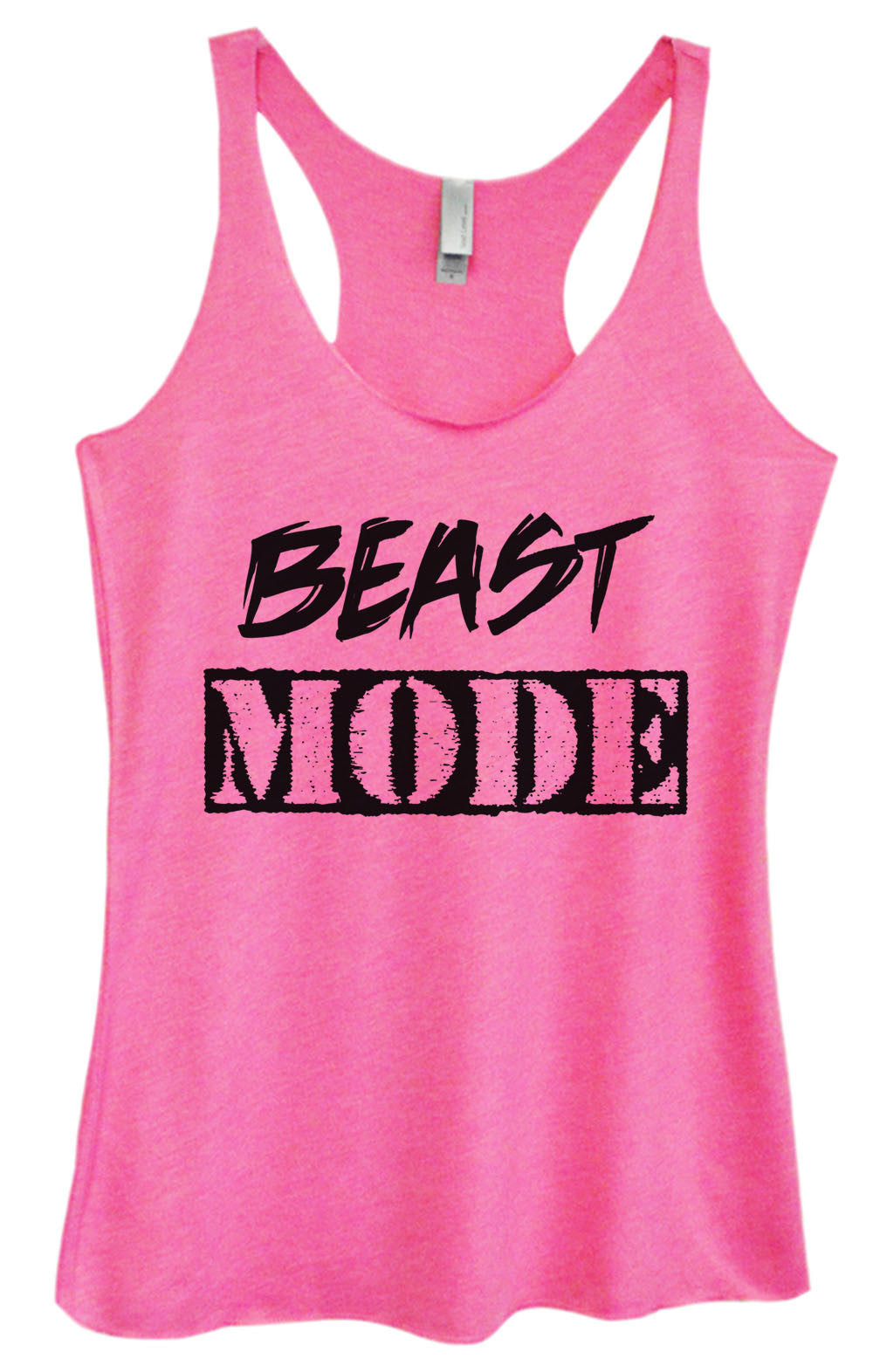 Womens Fashion Triblend Tank Top - Beast Mode - Tri-823 - Funny Shirts Tank Tops Burnouts and Triblends  - 1
