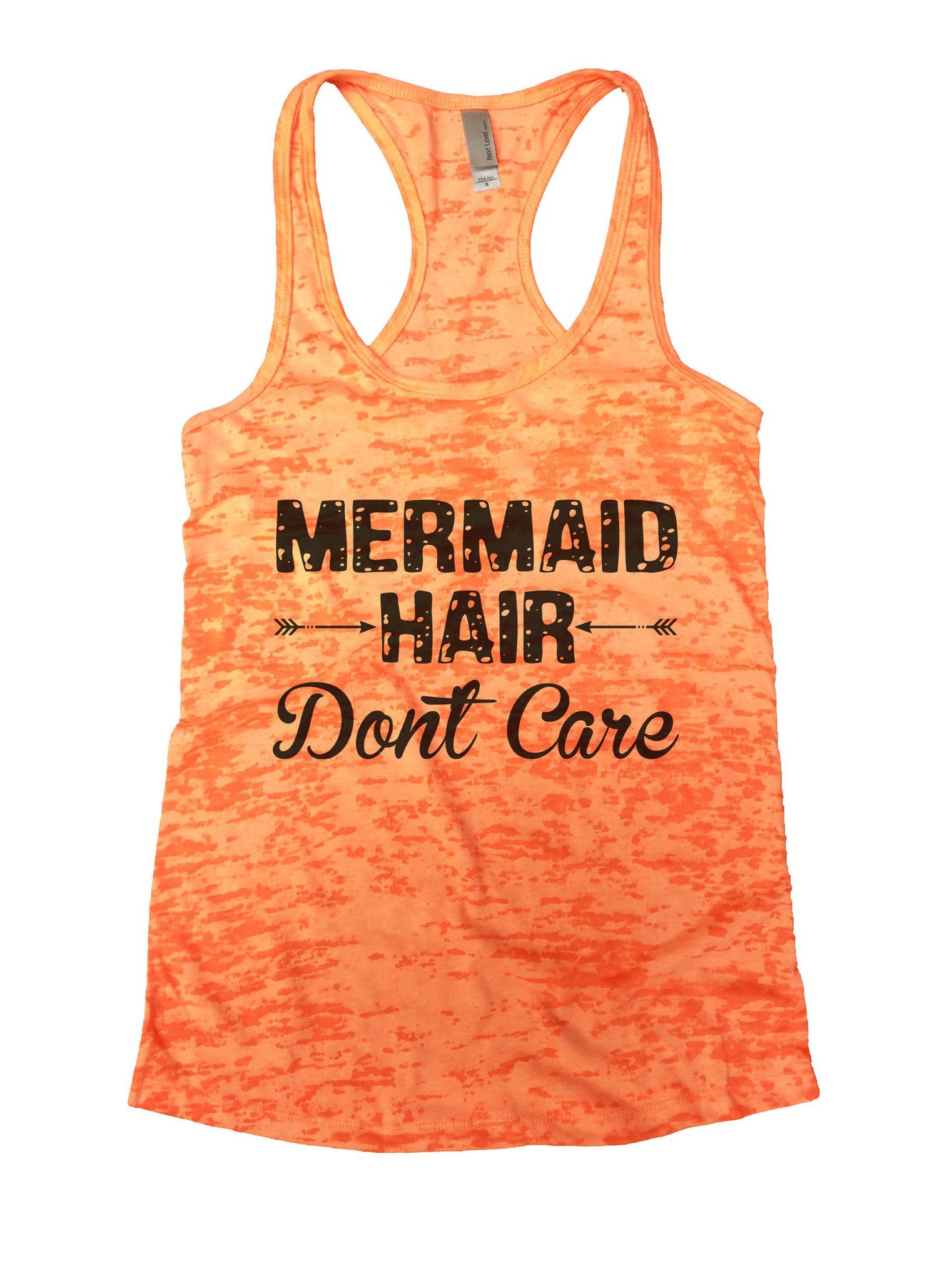 Mermaid Hair Dont Care Burnout Tank Top By BurnoutTankTops.com - 833 - Funny Shirts Tank Tops Burnouts and Triblends  - 3