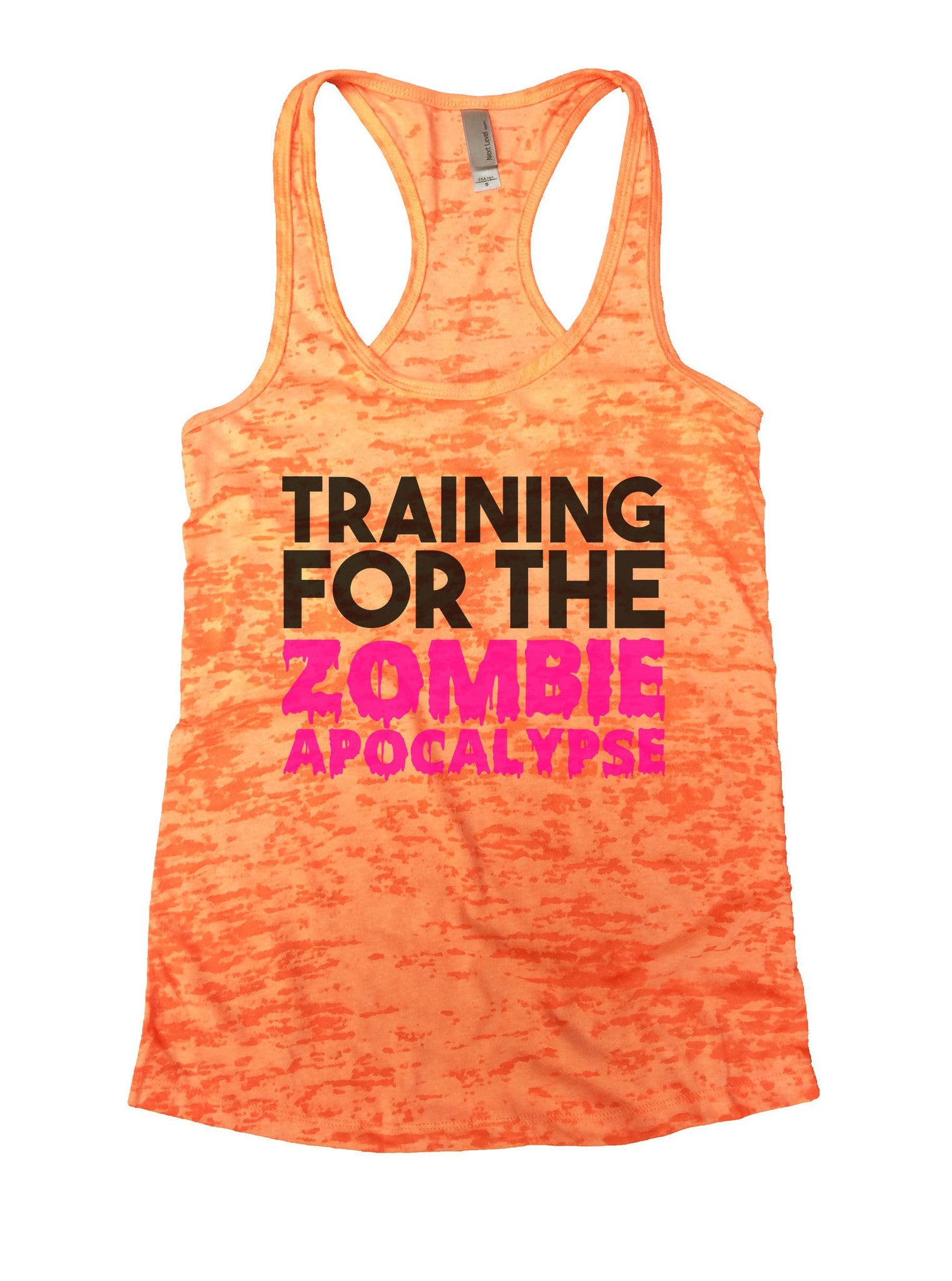 Training For The Zombie Apocalypse Burnout Tank Top By BurnoutTankTops.com - 873 - Funny Shirts Tank Tops Burnouts and Triblends  - 7
