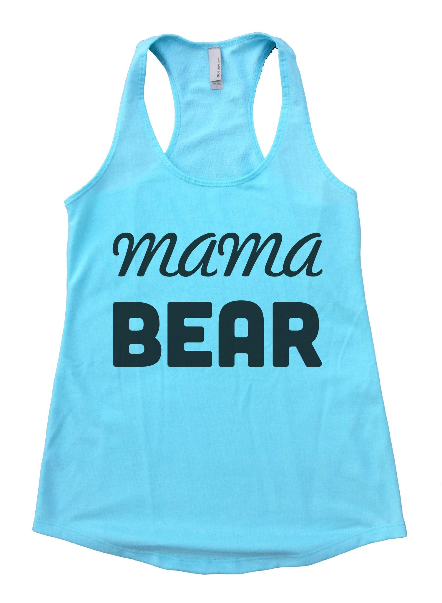 Mama Bear Womens Workout Tank Top F876 - Funny Shirts Tank Tops Burnouts and Triblends  - 2