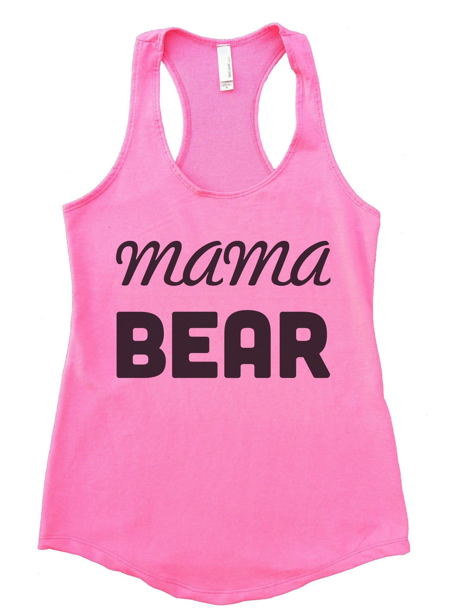 Mama Bear Womens Workout Tank Top F876 - Funny Shirts Tank Tops Burnouts and Triblends  - 3