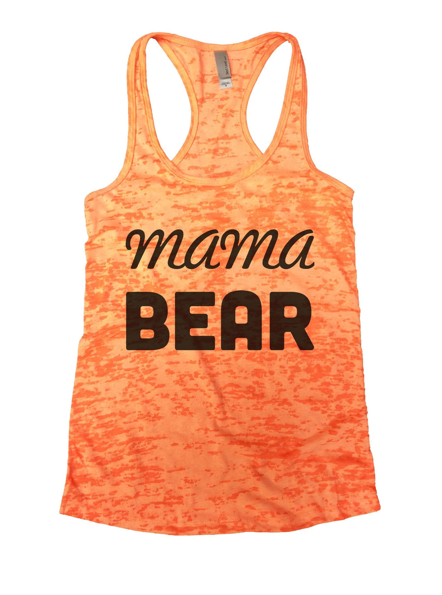 Mama Bear Burnout Tank Top By BurnoutTankTops.com - 876 - Funny Shirts Tank Tops Burnouts and Triblends  - 3
