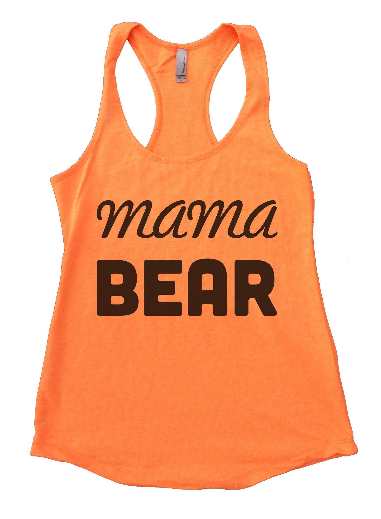 Mama Bear Womens Workout Tank Top F876 - Funny Shirts Tank Tops Burnouts and Triblends  - 5