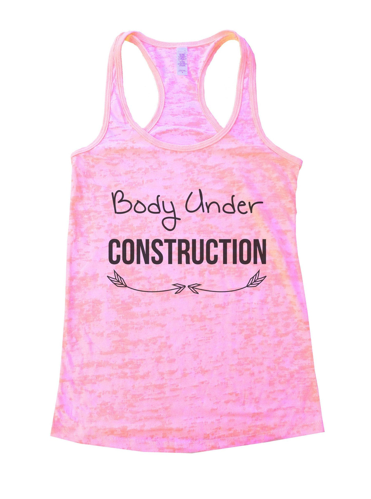 Body Under Construction Burnout Tank Top By BurnoutTankTops.com - 877 - Funny Shirts Tank Tops Burnouts and Triblends  - 1