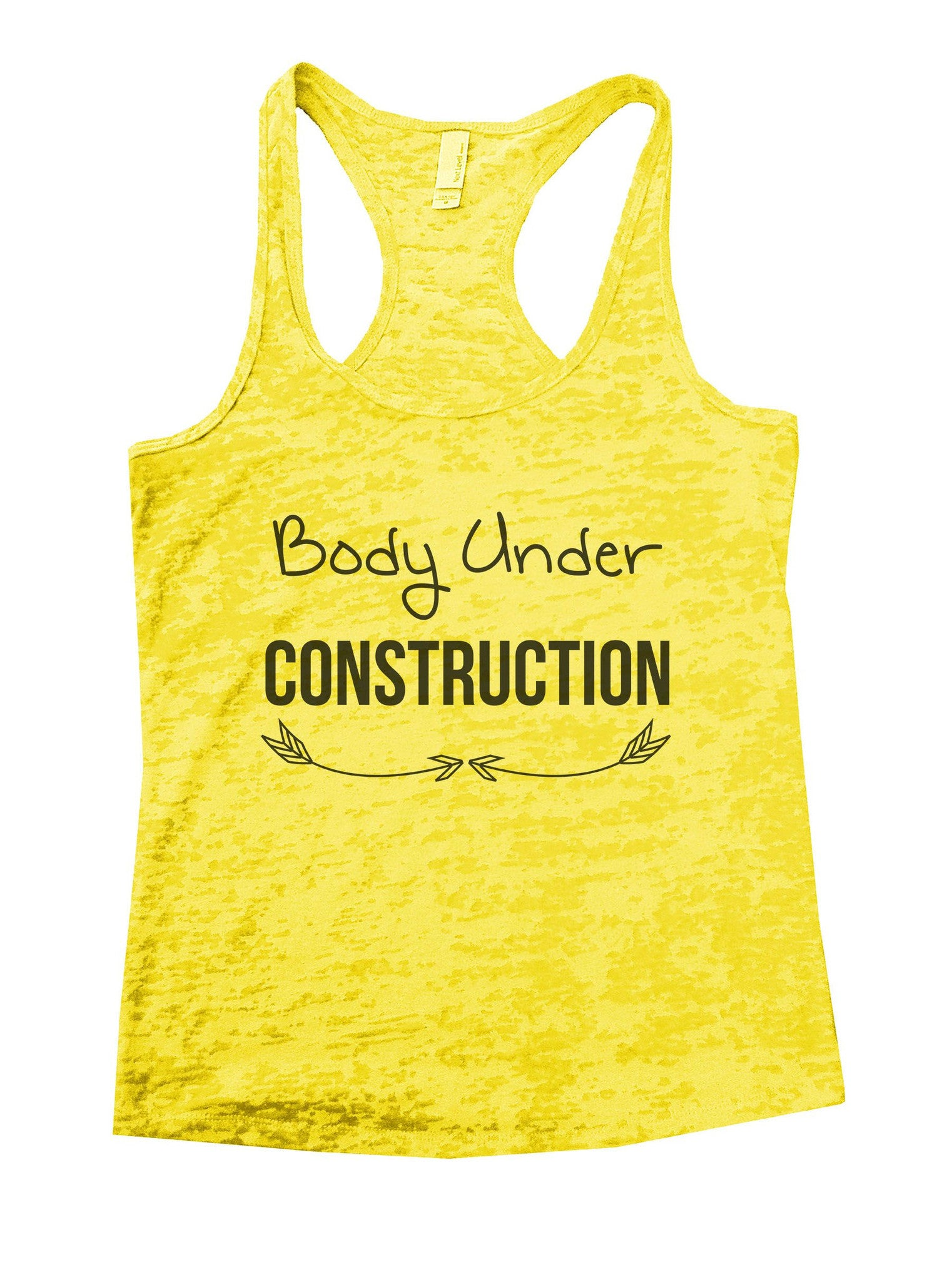 Body Under Construction Burnout Tank Top By BurnoutTankTops.com - 877 - Funny Shirts Tank Tops Burnouts and Triblends  - 7