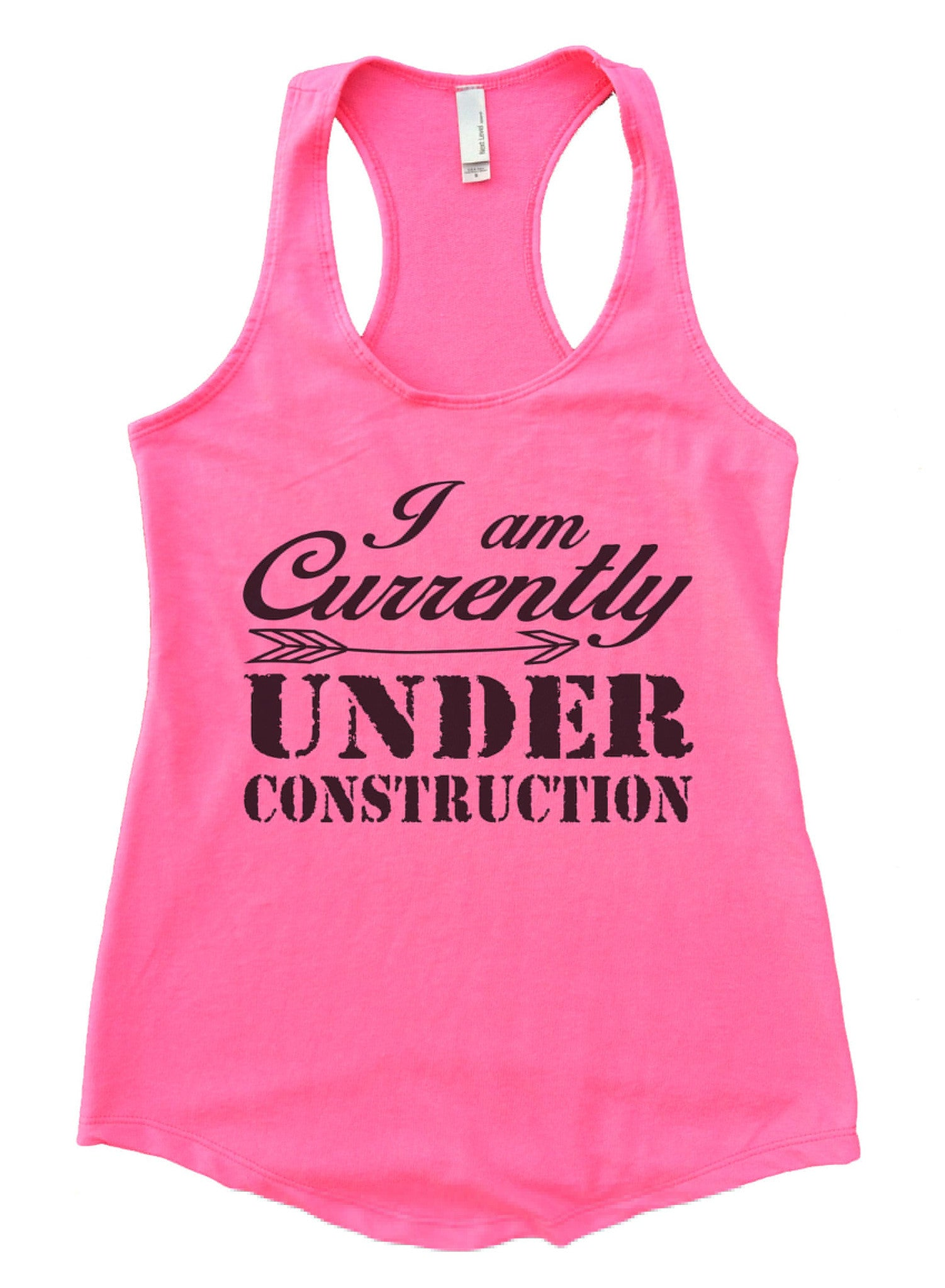 I am Currently Under Construction Womens Workout Tank Top F911 - Funny Shirts Tank Tops Burnouts and Triblends  - 3