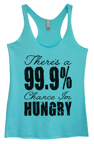 Womens Fashion Triblend Tank Top - Thug Life Nawww... Lets Drop The T and Bring It ON - Tri-613