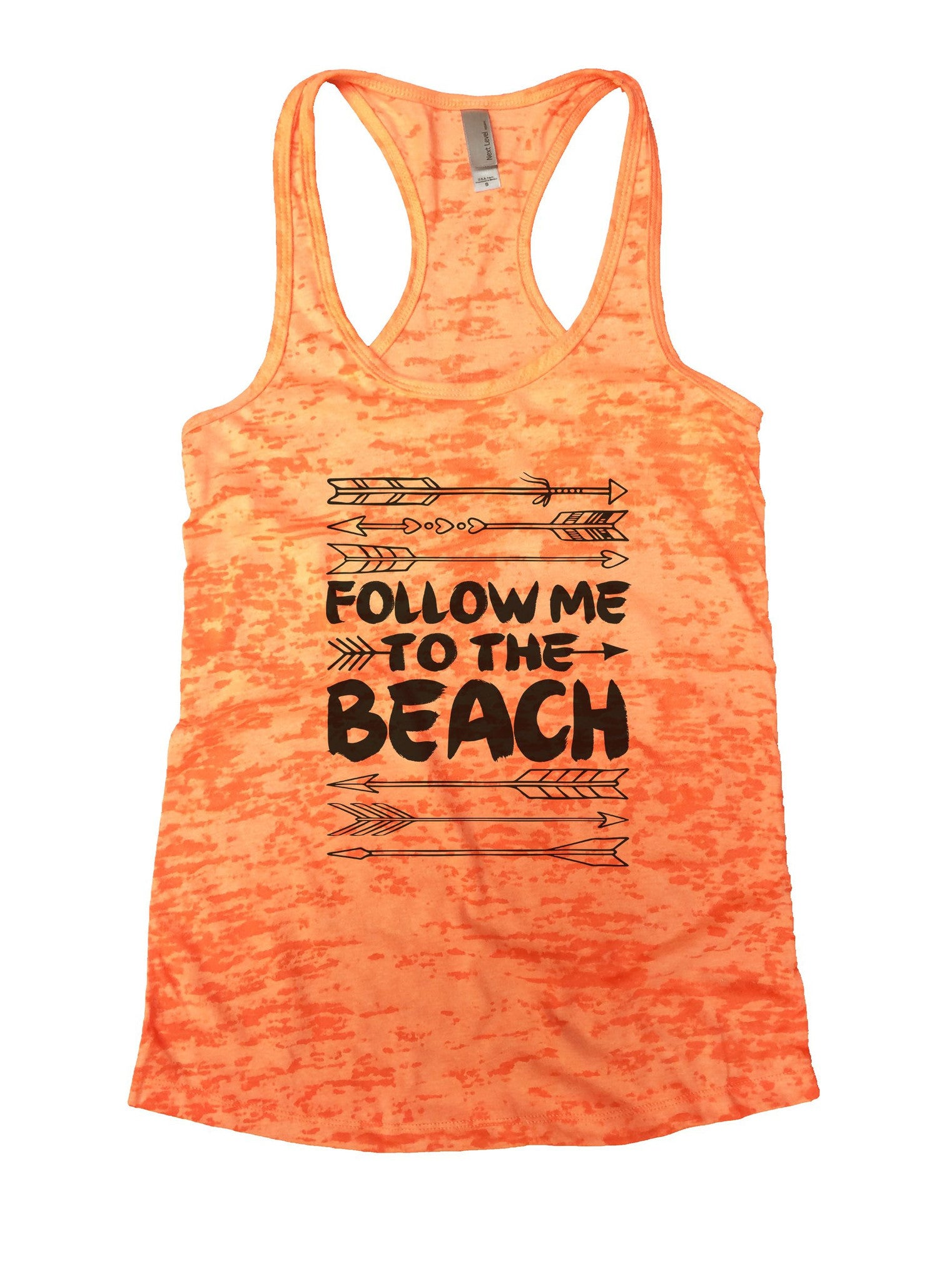 Follow Me To The Beach Burnout Tank Top By BurnoutTankTops.com - 931 - Funny Shirts Tank Tops Burnouts and Triblends  - 5