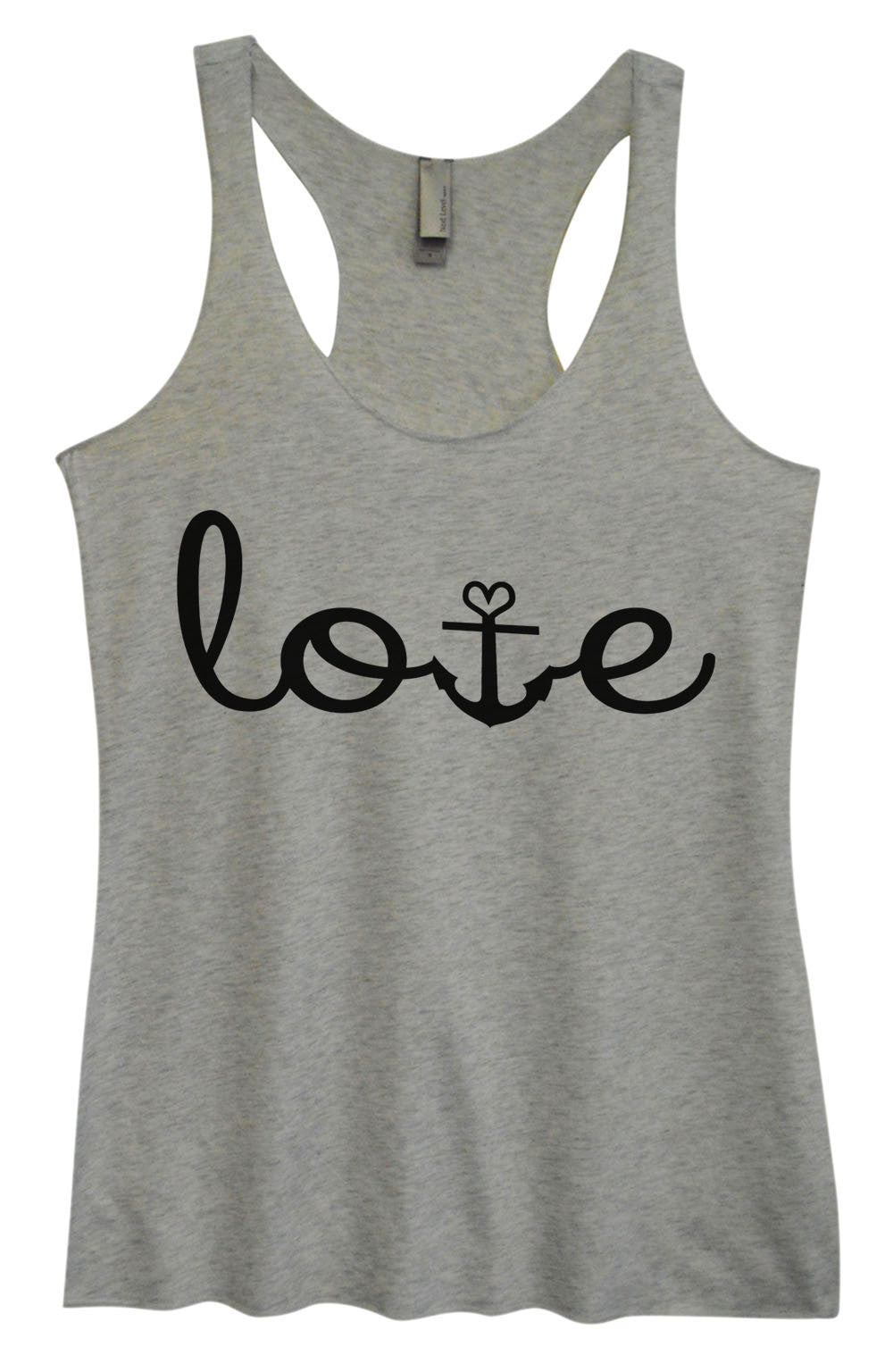 Womens Fashion Triblend Tank Top - Love - Tri-935 - Funny Shirts Tank Tops Burnouts and Triblends  - 2