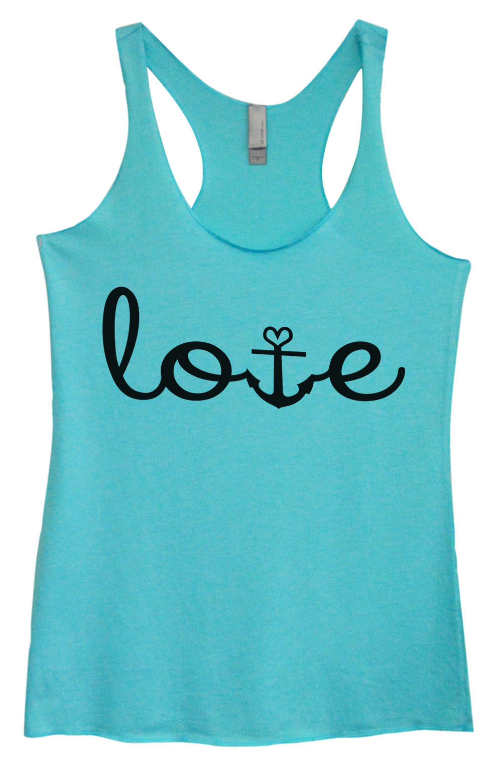 Womens Fashion Triblend Tank Top - Love - Tri-935 - Funny Shirts Tank Tops Burnouts and Triblends  - 3