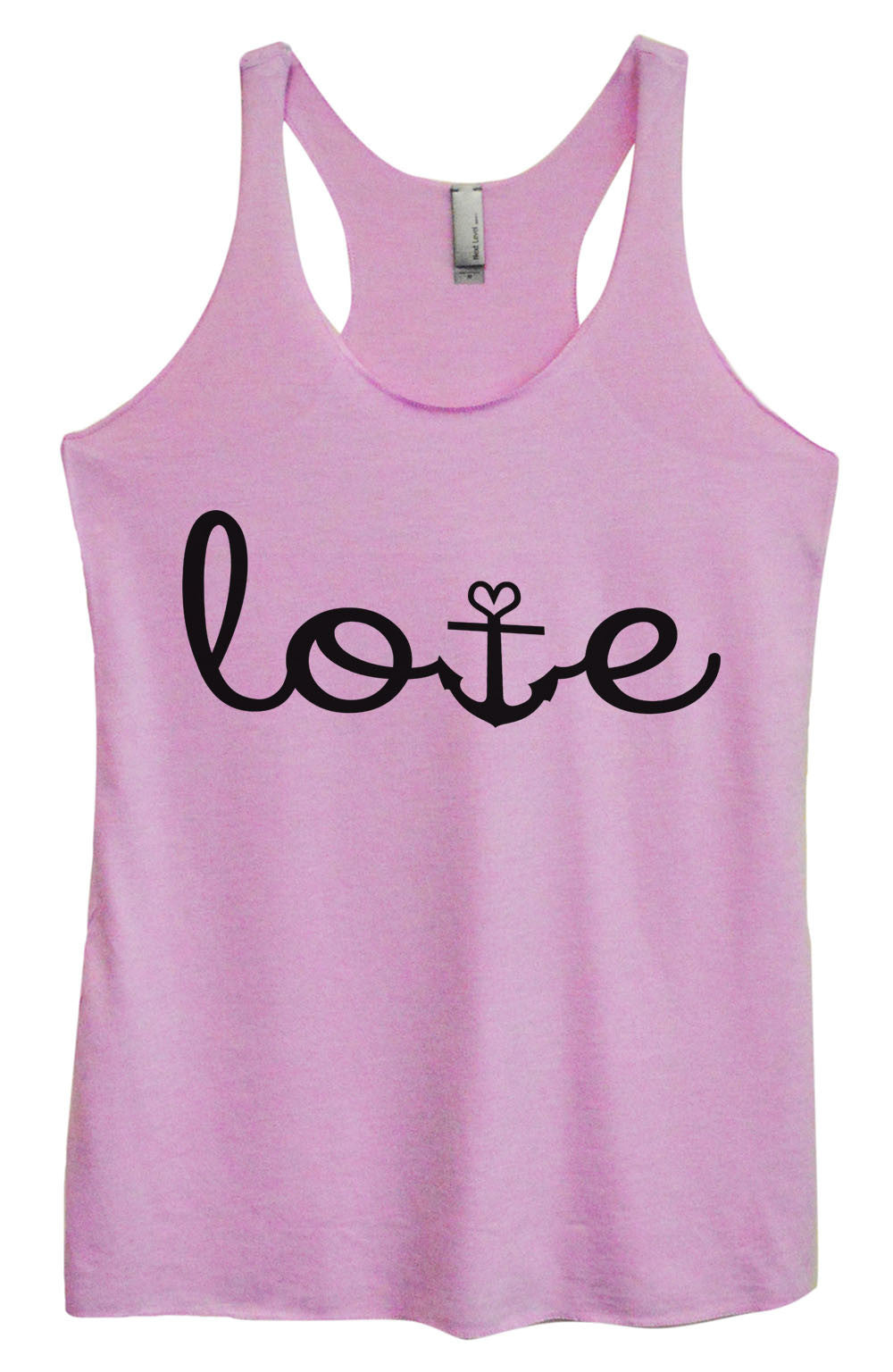 Womens Fashion Triblend Tank Top - Love - Tri-935 - Funny Shirts Tank Tops Burnouts and Triblends  - 1