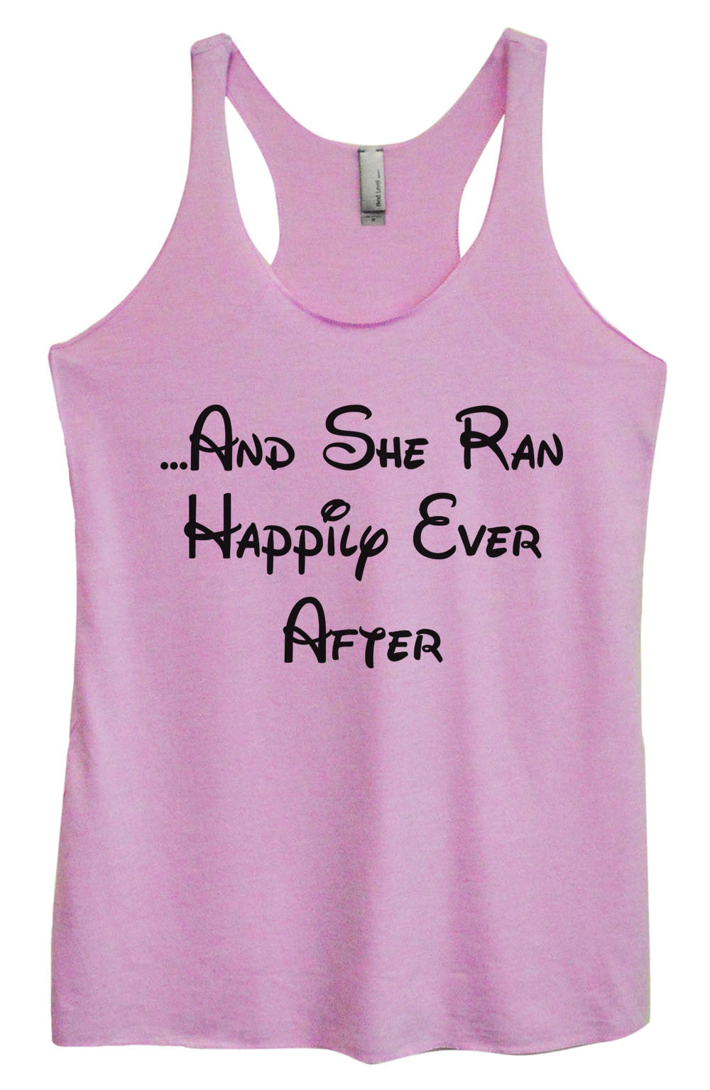 Womens Fashion Triblend Tank Top - ...And She Ran Happily Ever After - Tri-954 - Funny Shirts Tank Tops Burnouts and Triblends  - 1