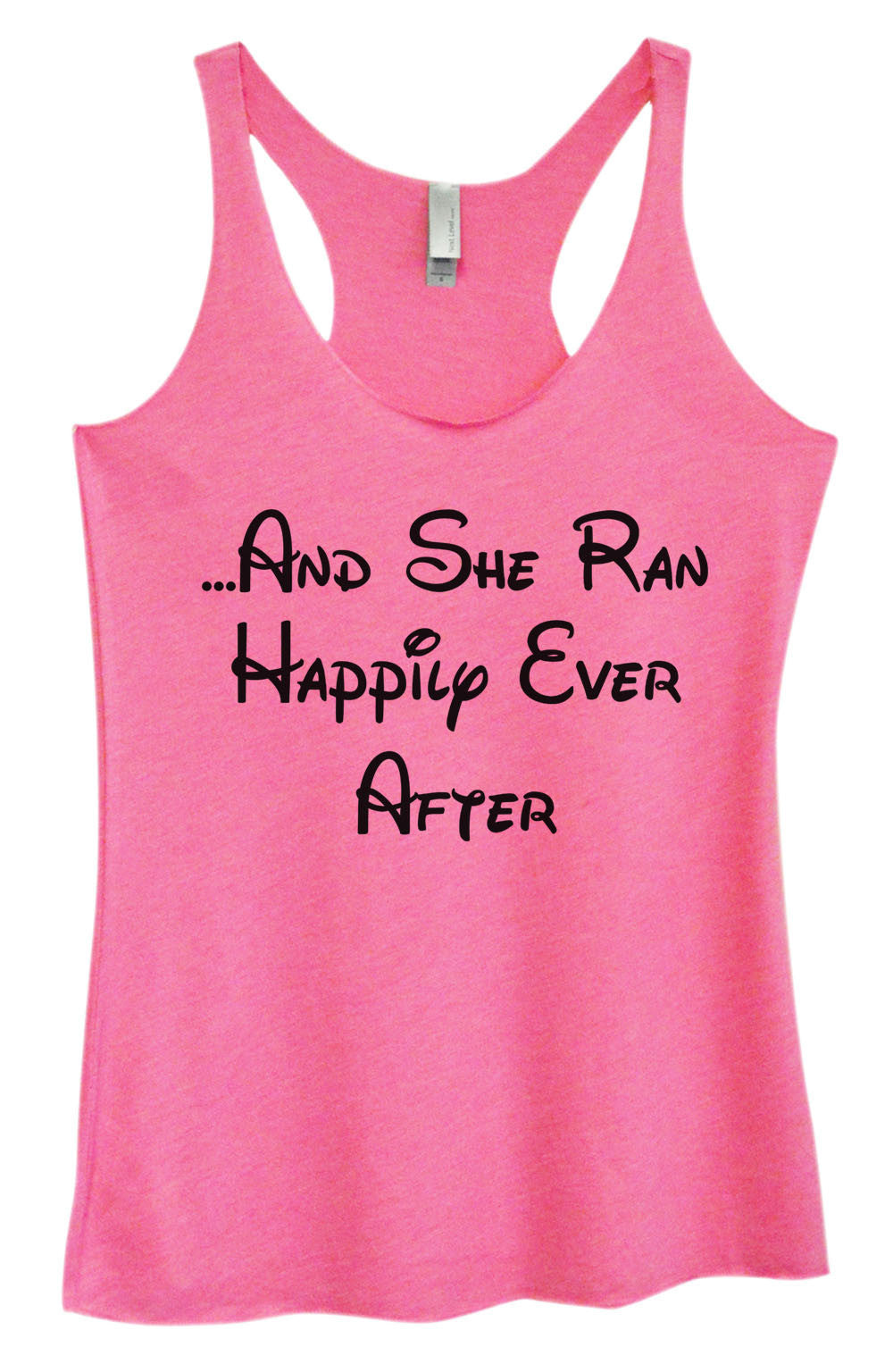 Womens Fashion Triblend Tank Top - ...And She Ran Happily Ever After - Tri-954 - Funny Shirts Tank Tops Burnouts and Triblends  - 4