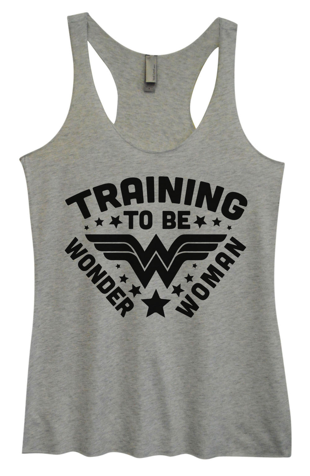 Womens Fashion Triblend Tank Top - Training To Be Wonder Woman - Tri-966 - Funny Shirts Tank Tops Burnouts and Triblends  - 2