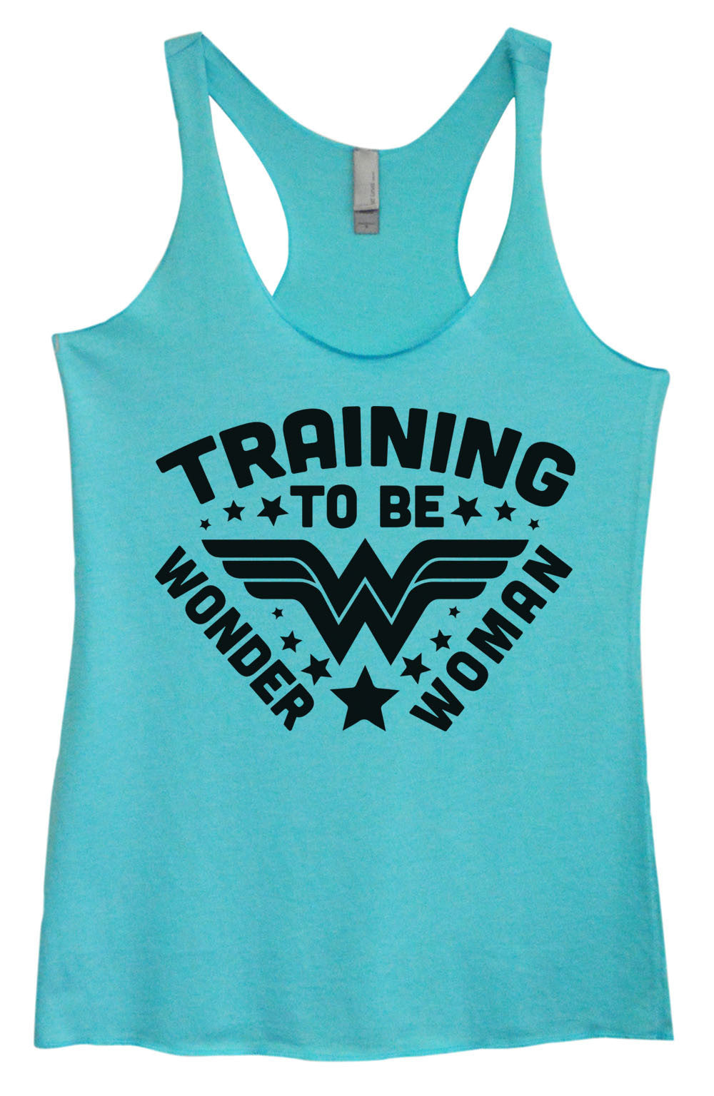 Womens Fashion Triblend Tank Top - Training To Be Wonder Woman - Tri-966 - Funny Shirts Tank Tops Burnouts and Triblends  - 1