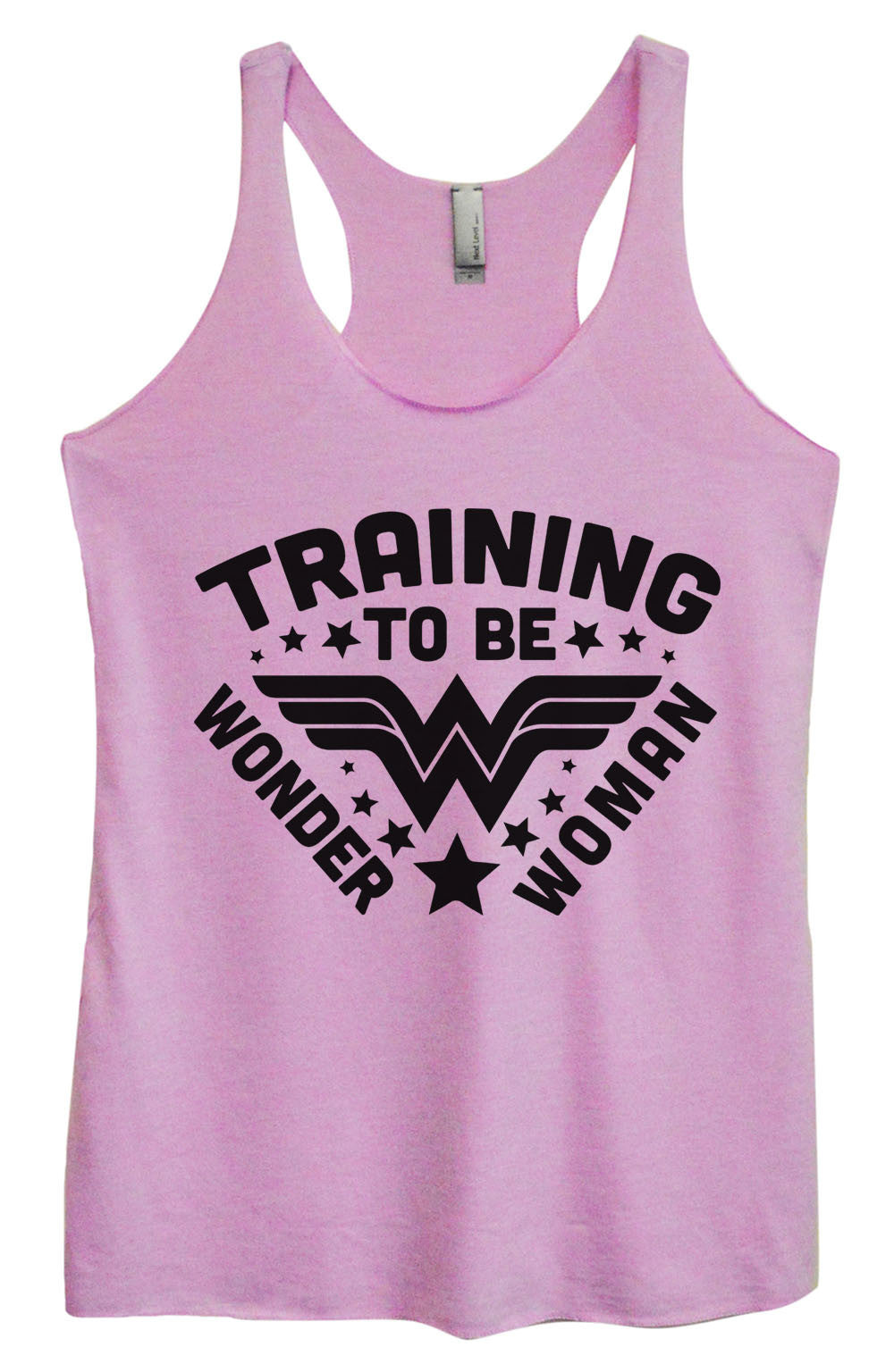 Womens Fashion Triblend Tank Top - Training To Be Wonder Woman - Tri-966 - Funny Shirts Tank Tops Burnouts and Triblends  - 4