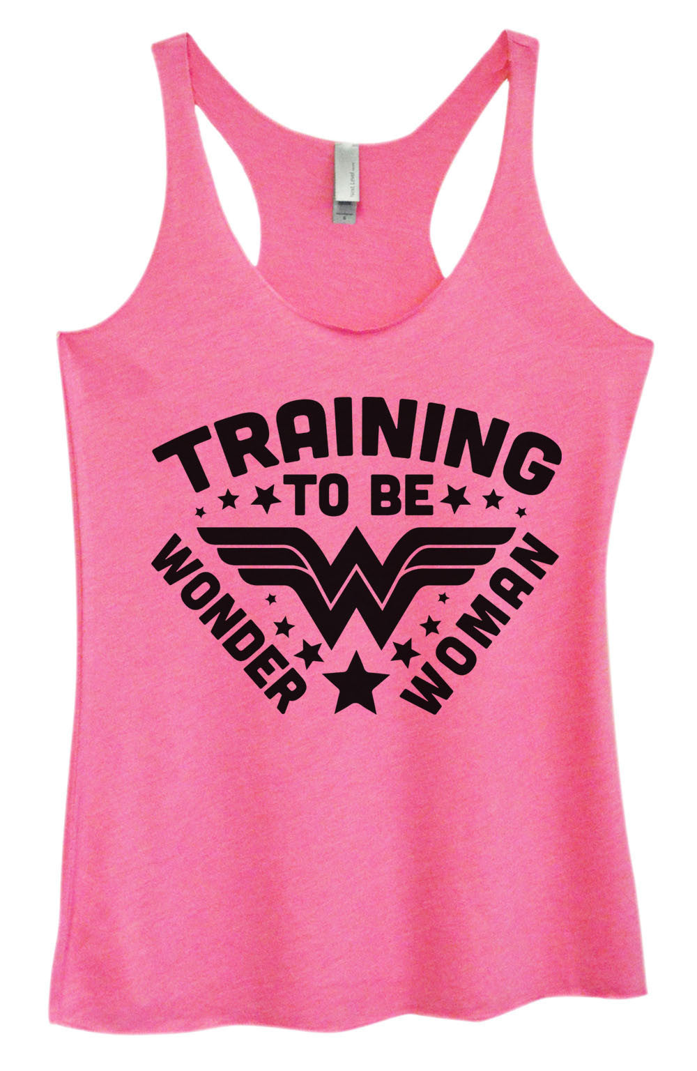 Womens Fashion Triblend Tank Top - Training To Be Wonder Woman - Tri-966 - Funny Shirts Tank Tops Burnouts and Triblends  - 3