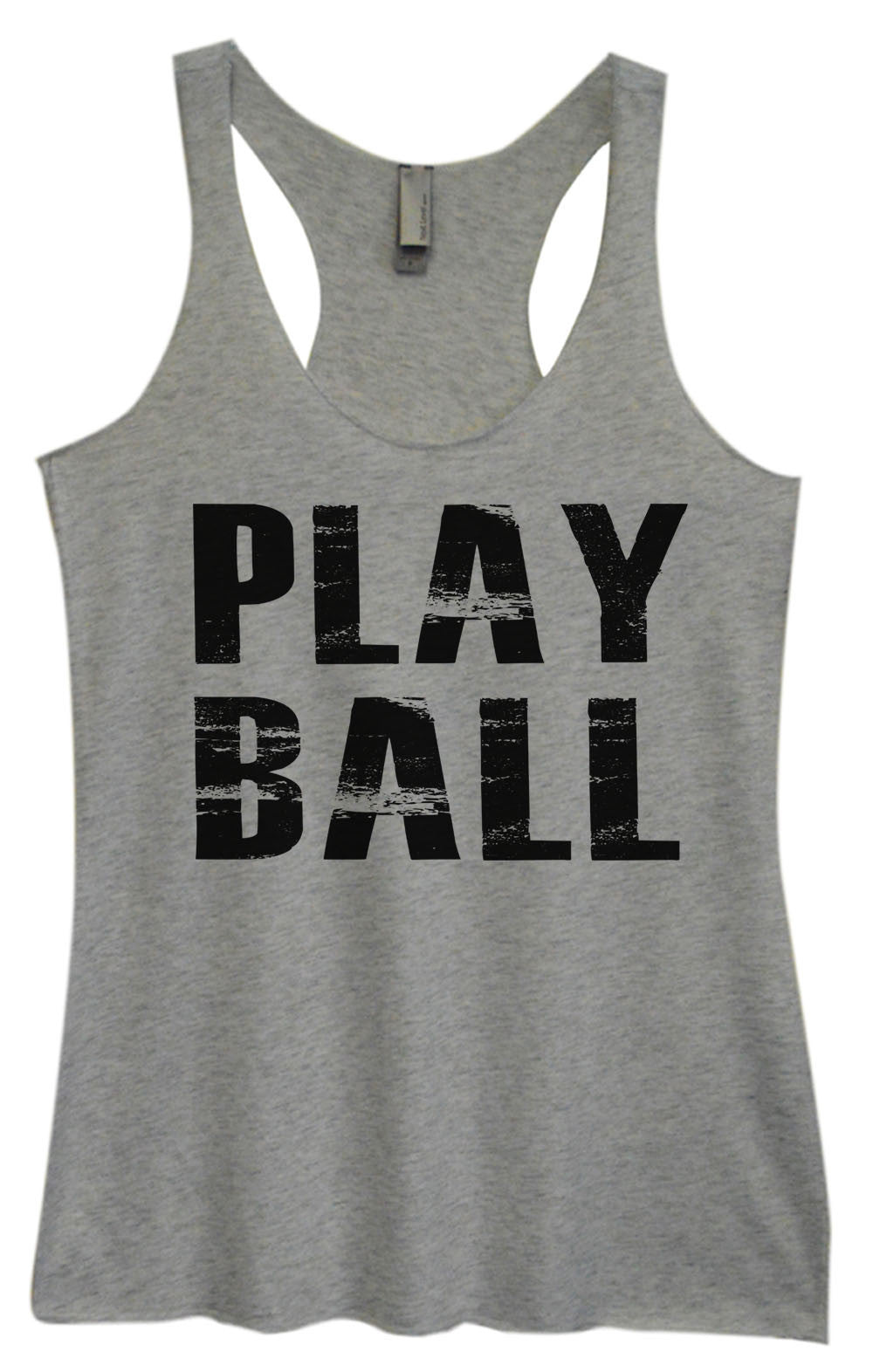 Womens Fashion Triblend Tank Top - Play Ball - Tri-992 - Funny Shirts Tank Tops Burnouts and Triblends  - 2
