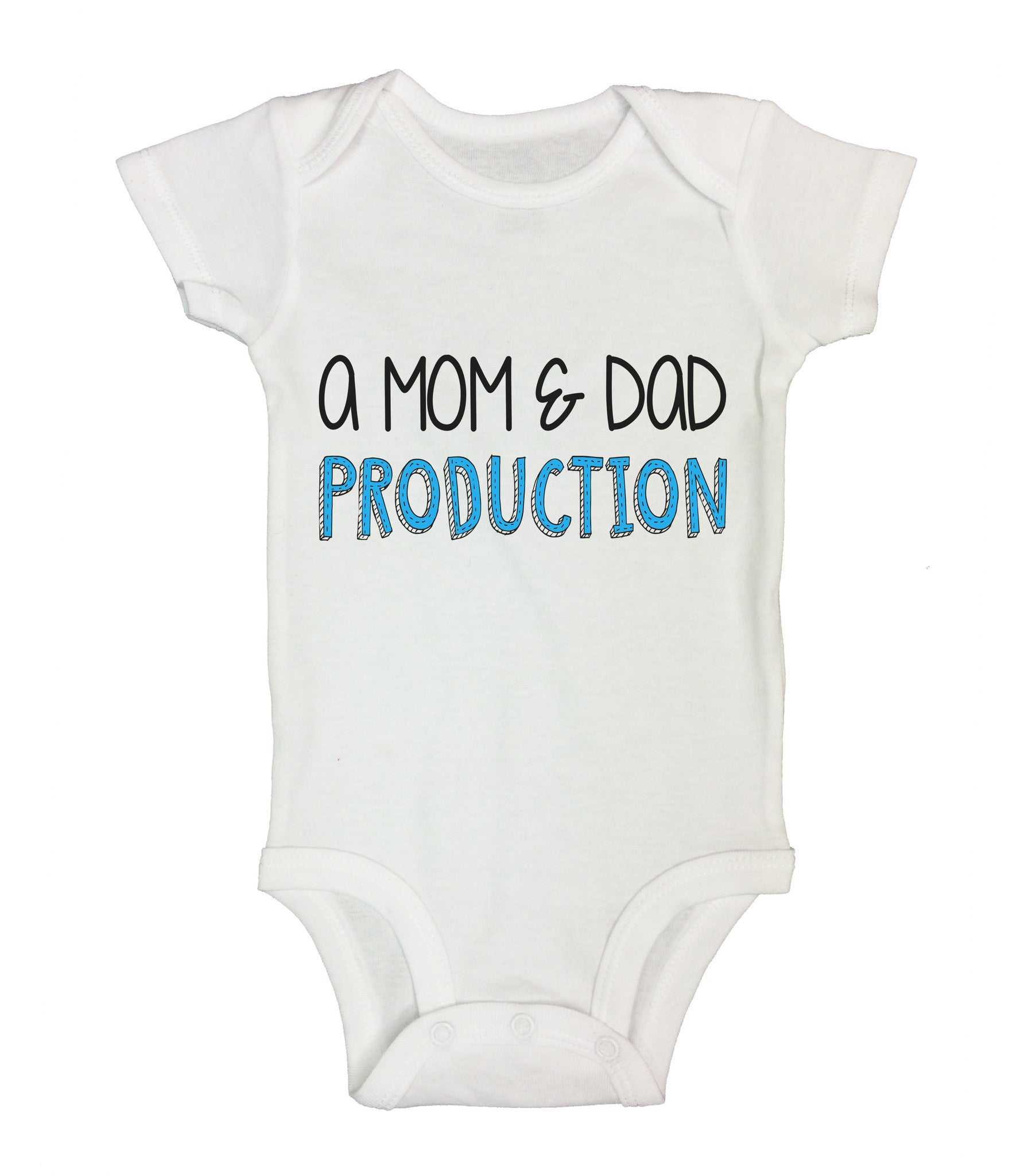 A Mom and Dad Production Funny Kids Onesie - B100 - Funny Shirts Tank Tops Burnouts and Triblends  - 1