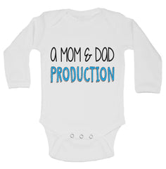 A Mom and Dad Production Funny Kids Onesie - B100 - Funny Shirts Tank Tops Burnouts and Triblends  - 2
