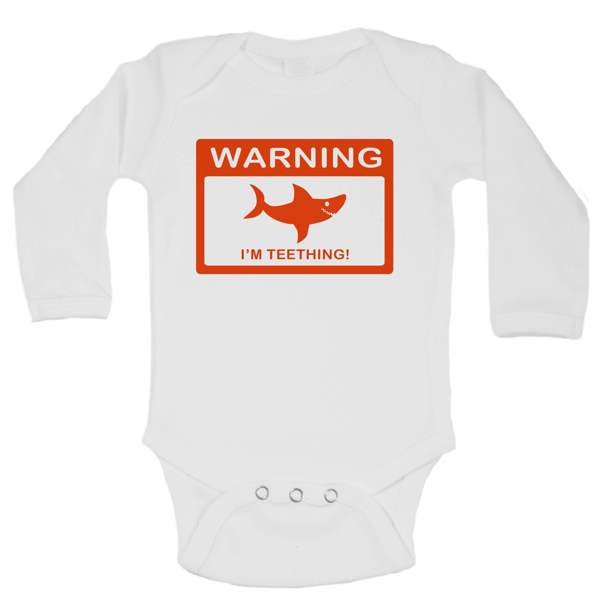 Warning I'm Teething! Funny Kids Onesie - B10 - Funny Shirts Tank Tops Burnouts and Triblends  - 2