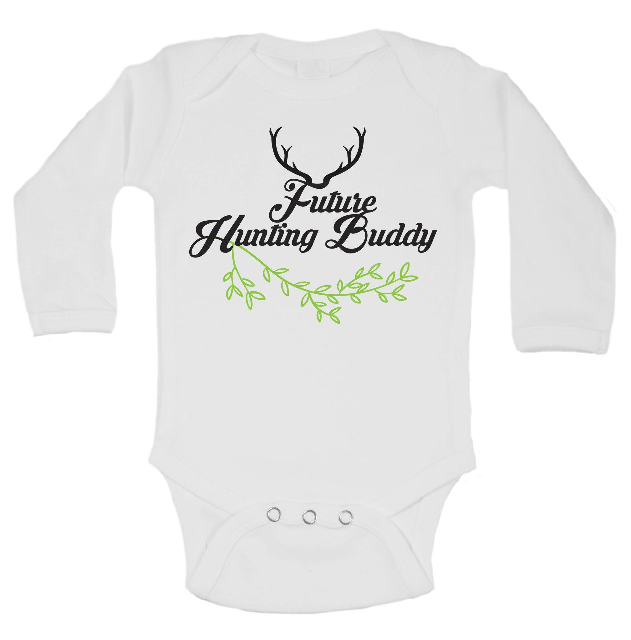 Future Hunting Buddy Funny Kids Onesie - B112 - Funny Shirts Tank Tops Burnouts and Triblends  - 1