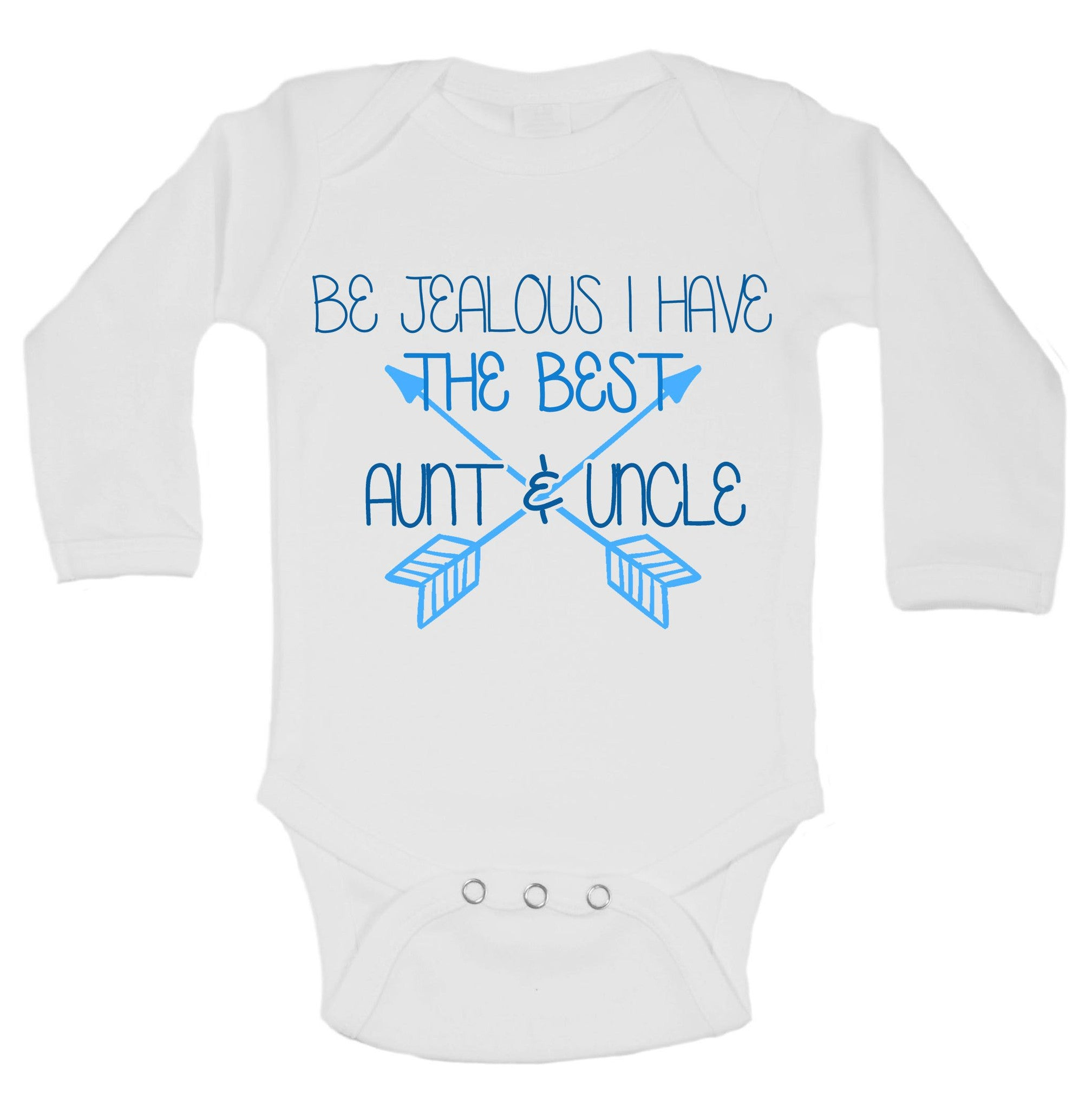 Be Jealous I Have The Best Aunt & Uncle Funny Kids Onesie - B129 - Funny Shirts Tank Tops Burnouts and Triblends  - 1