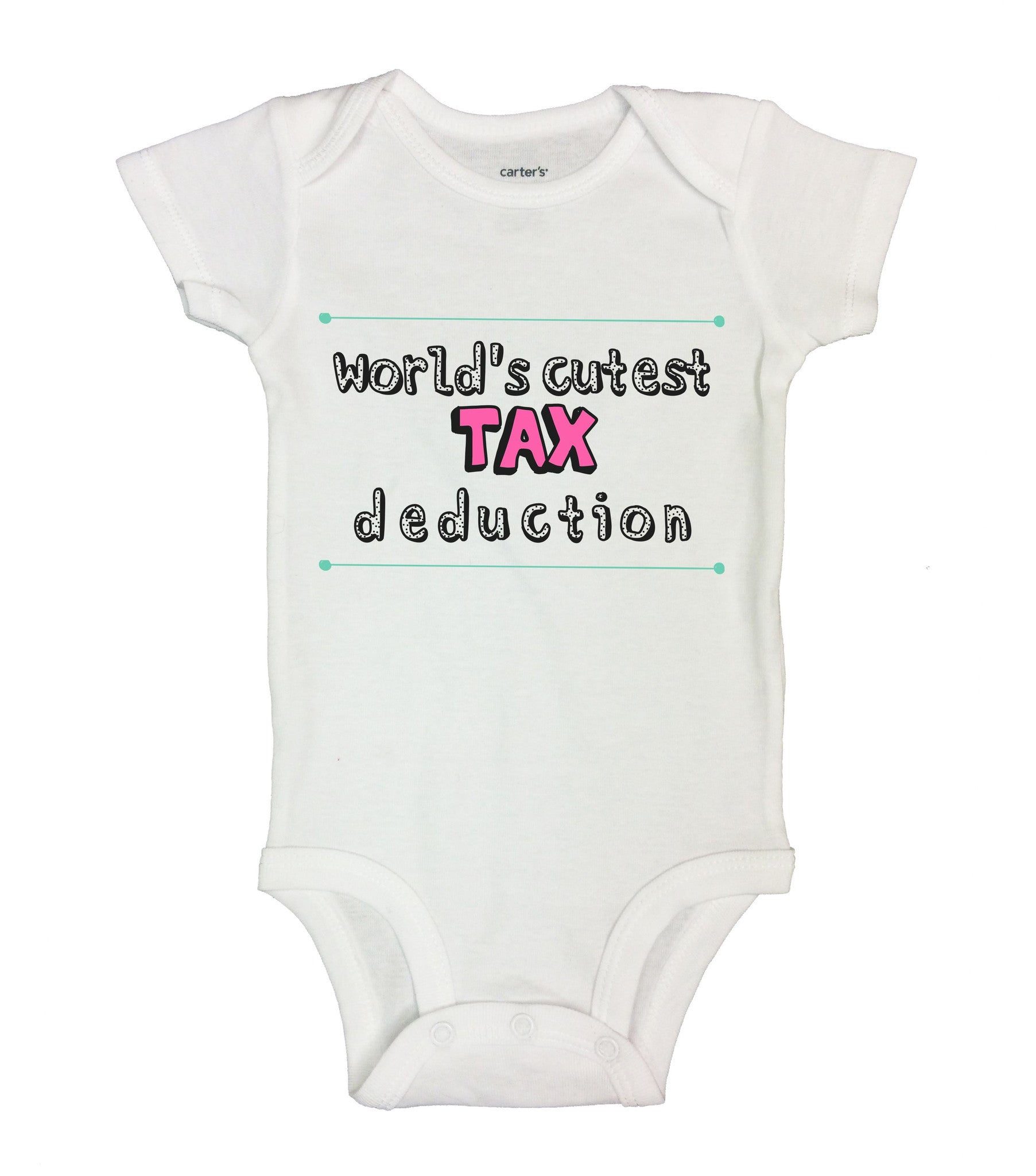 World's Cutest Tax Deduction Funny Kids Onesie - B134 - Funny Shirts Tank Tops Burnouts and Triblends  - 2