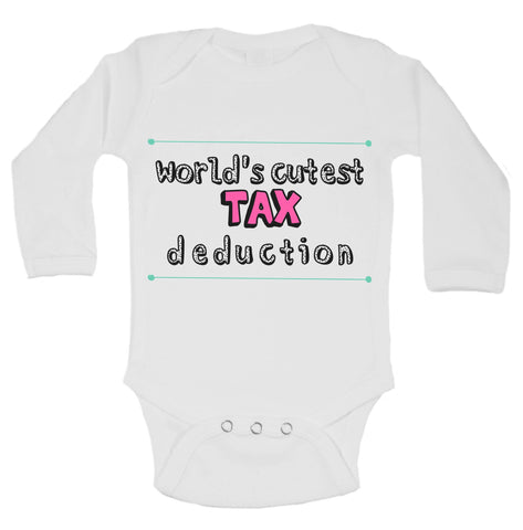 World's Cutest Tax Deduction Funny Kids Onesie - B134 - Funny Shirts Tank Tops Burnouts and Triblends  - 1