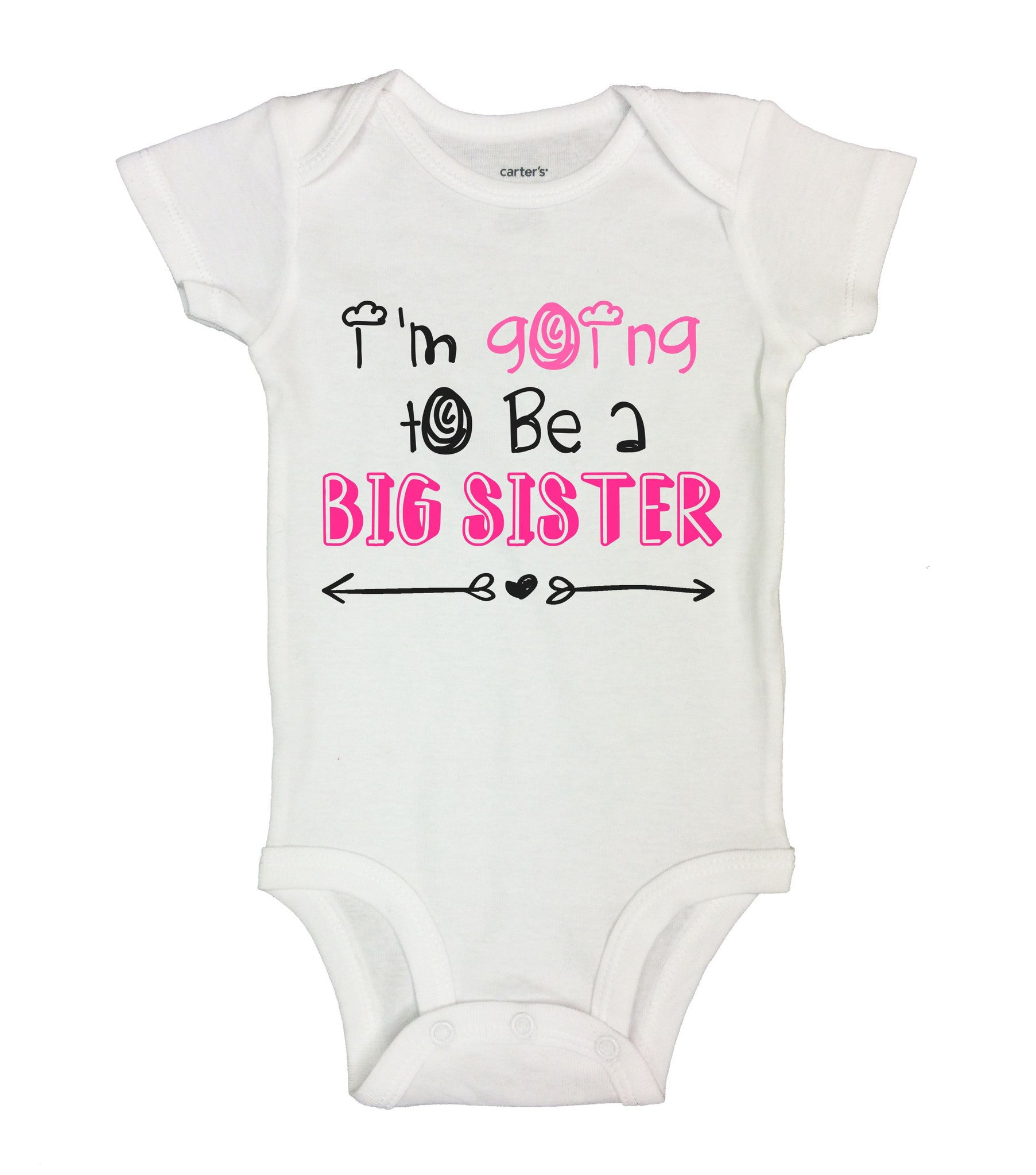 I'm Going To Be A Big Sister Funny Kids Onesie - B145 - Funny Shirts Tank Tops Burnouts and Triblends  - 2