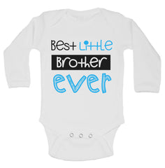 Best Little Brother Ever Funny Kids Onesie - B150 - Funny Shirts Tank Tops Burnouts and Triblends  - 1