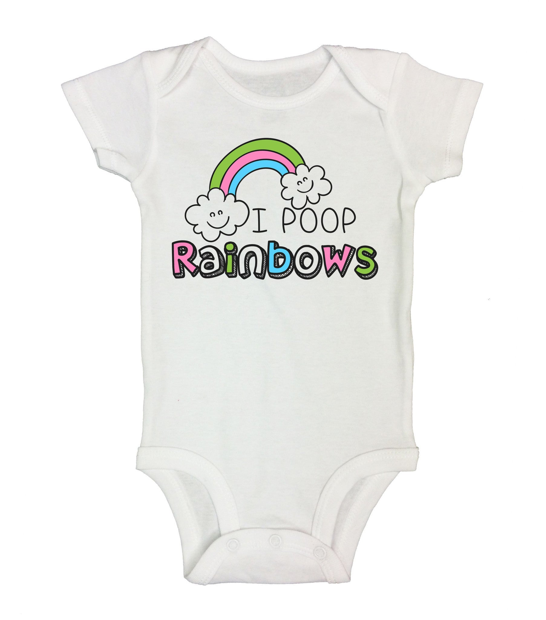 I Poop Rainbows Funny Kids Onesie - B155 - Funny Shirts Tank Tops Burnouts and Triblends  - 2