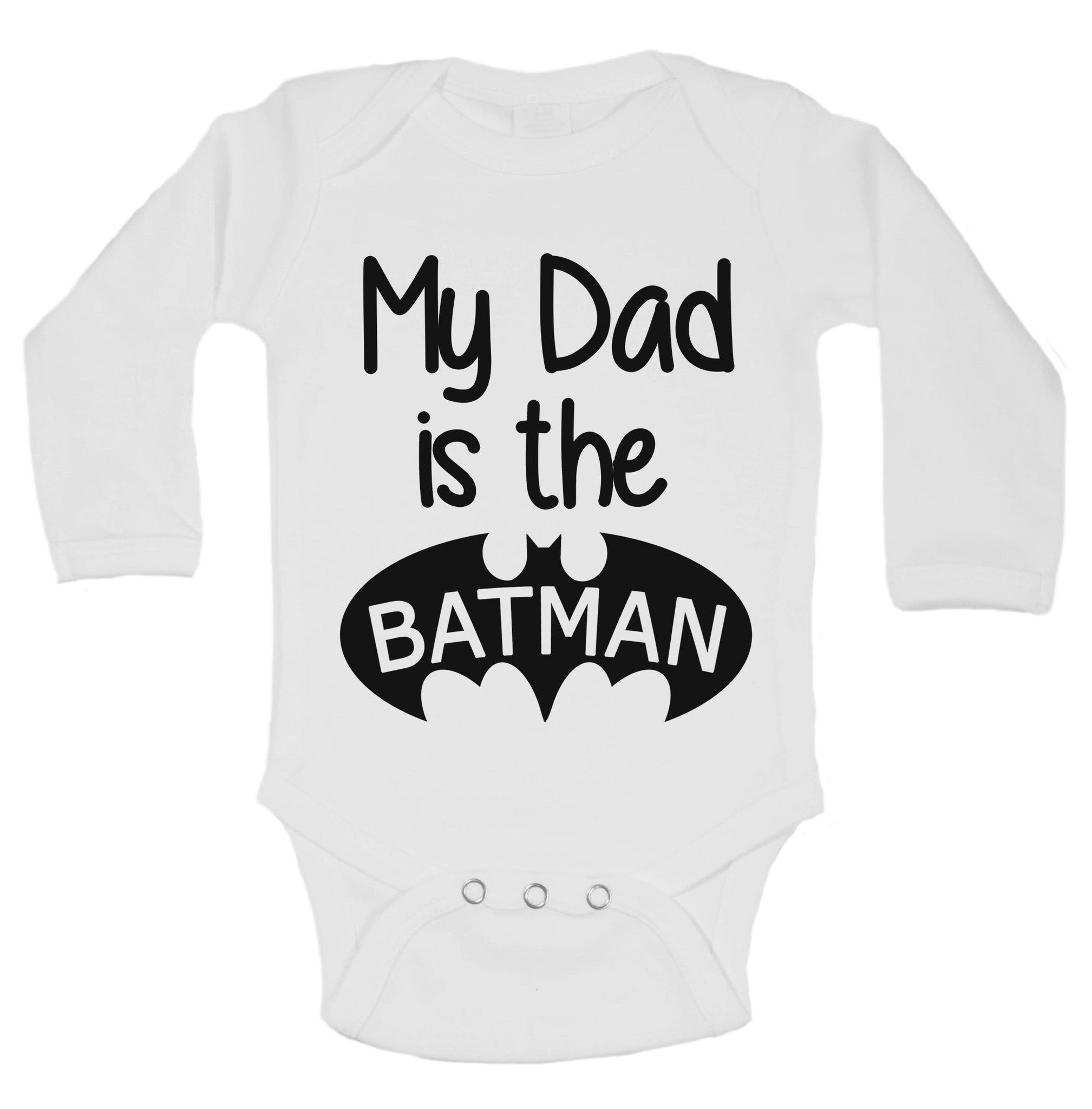 My Dad Is The Batman Funny Kids Onesie - B158 - Funny Shirts Tank Tops Burnouts and Triblends  - 1
