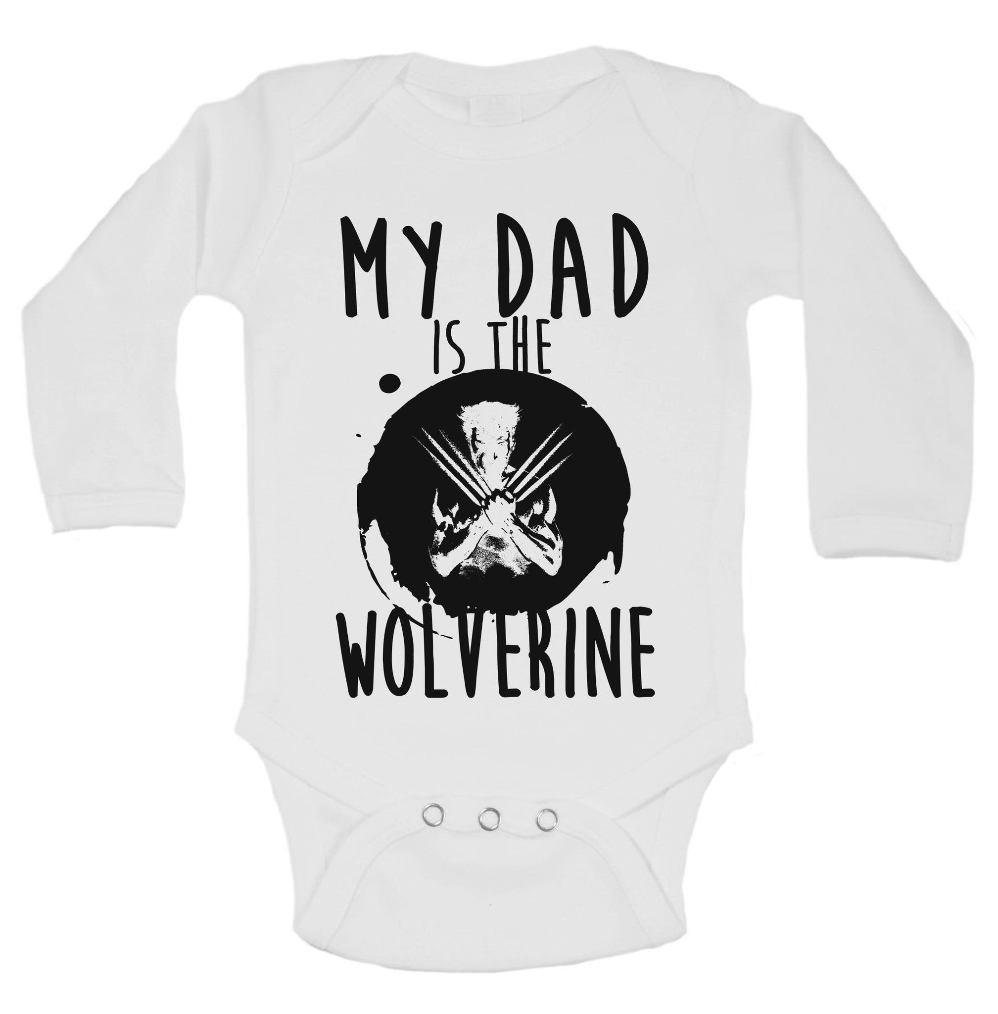 My Dad Is The Wolverine Funny Kids Onesie - B159 - Funny Shirts Tank Tops Burnouts and Triblends  - 1