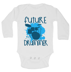 Future Drummer Funny Kids Onesie - B161 - Funny Shirts Tank Tops Burnouts and Triblends  - 1