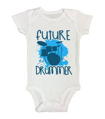 Future Drummer Funny Kids Onesie - B161 - Funny Shirts Tank Tops Burnouts and Triblends  - 2