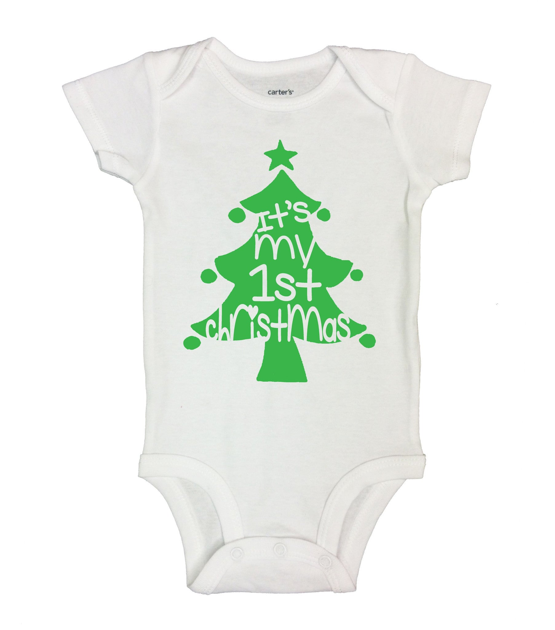 It's My 1st Christmas Funny Kids Onesie - B166 - Funny Shirts Tank Tops Burnouts and Triblends  - 2