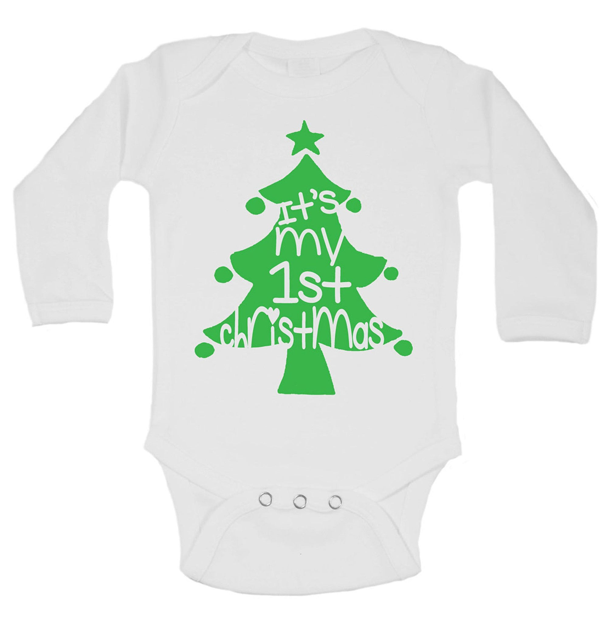 It's My 1st Christmas Funny Kids Onesie - B166 - Funny Shirts Tank Tops Burnouts and Triblends  - 1