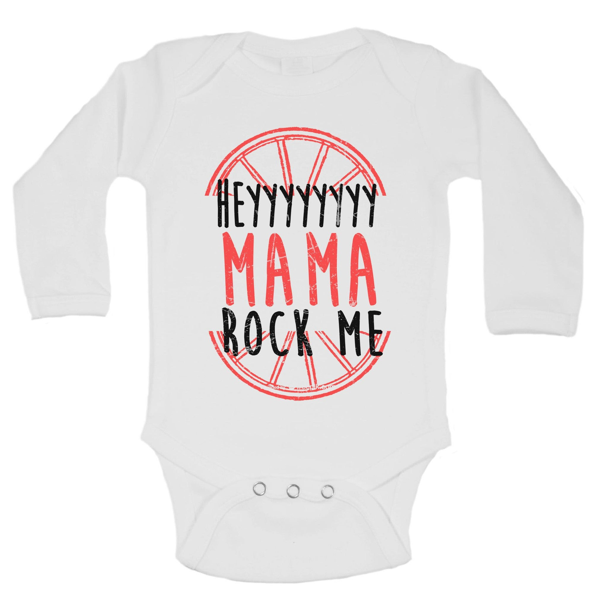 Heyyyyyyyy Mama Rock Me Funny Kids Onesie - B193 - Funny Shirts Tank Tops Burnouts and Triblends  - 1